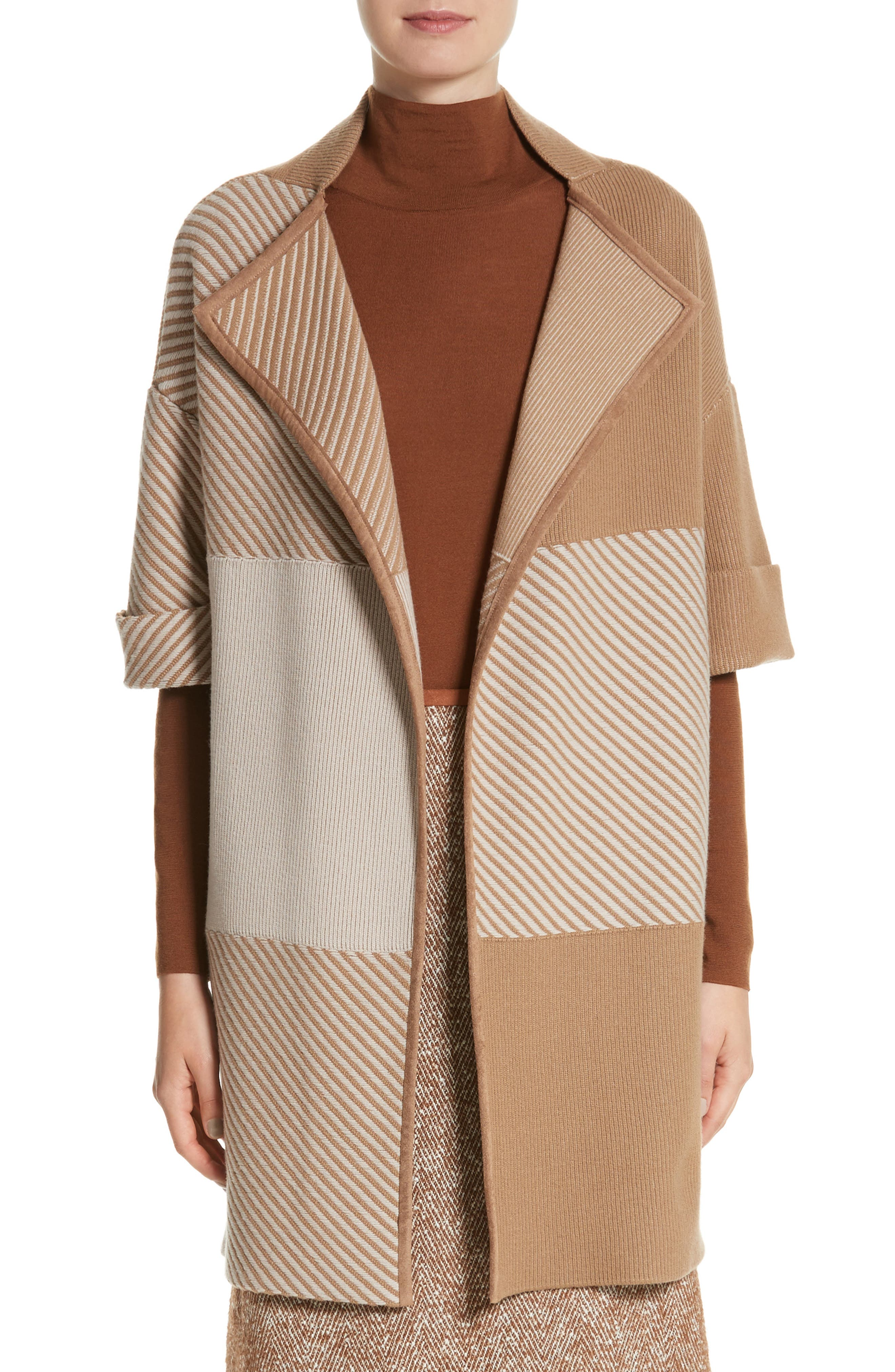 Lafayette 148 New York Flannel Bicolor Jacquard Coat