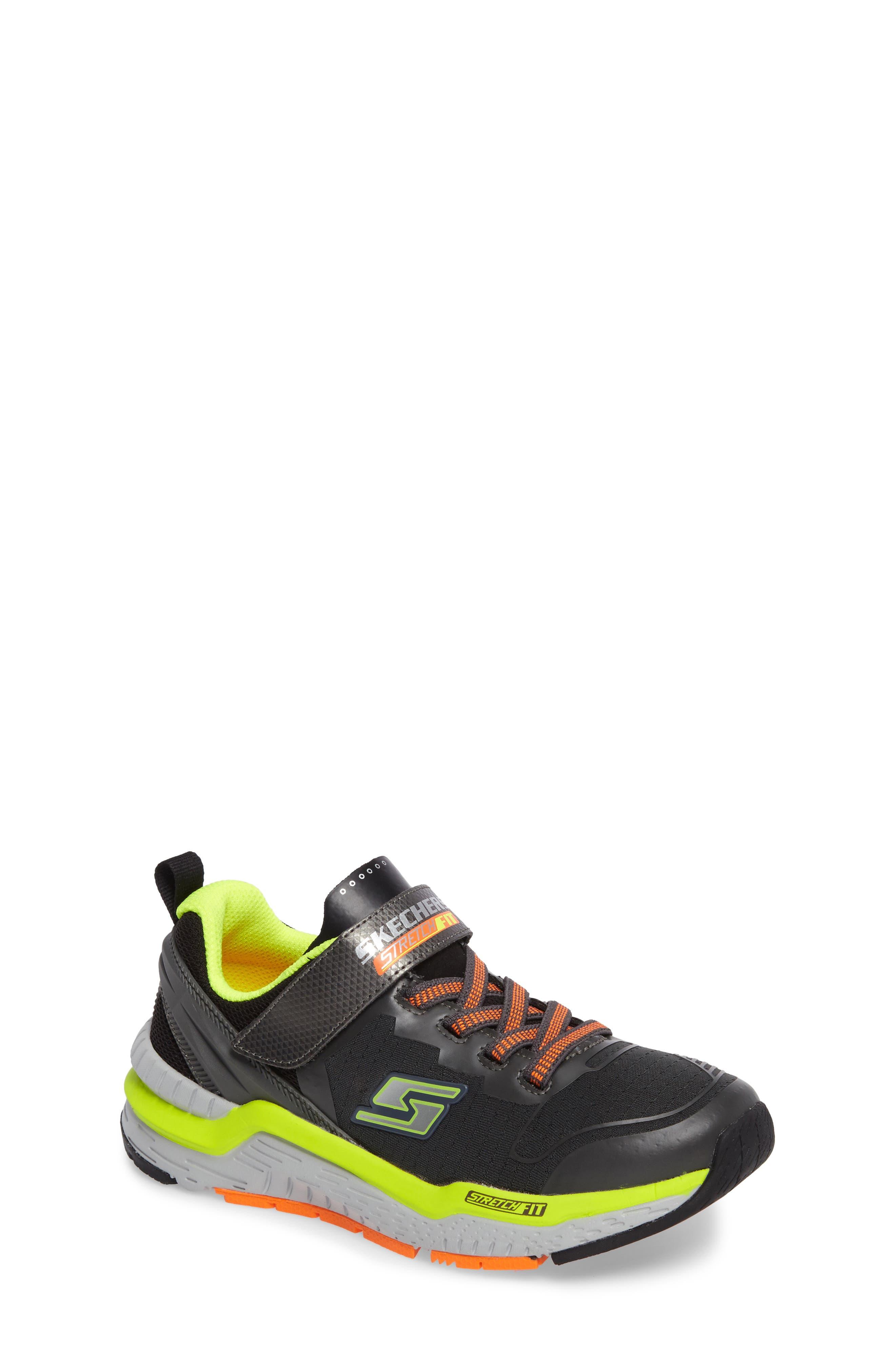 Hyperjolt Sneaker,                             Main thumbnail 1, color,                             Charcoal/ Black/ Lime