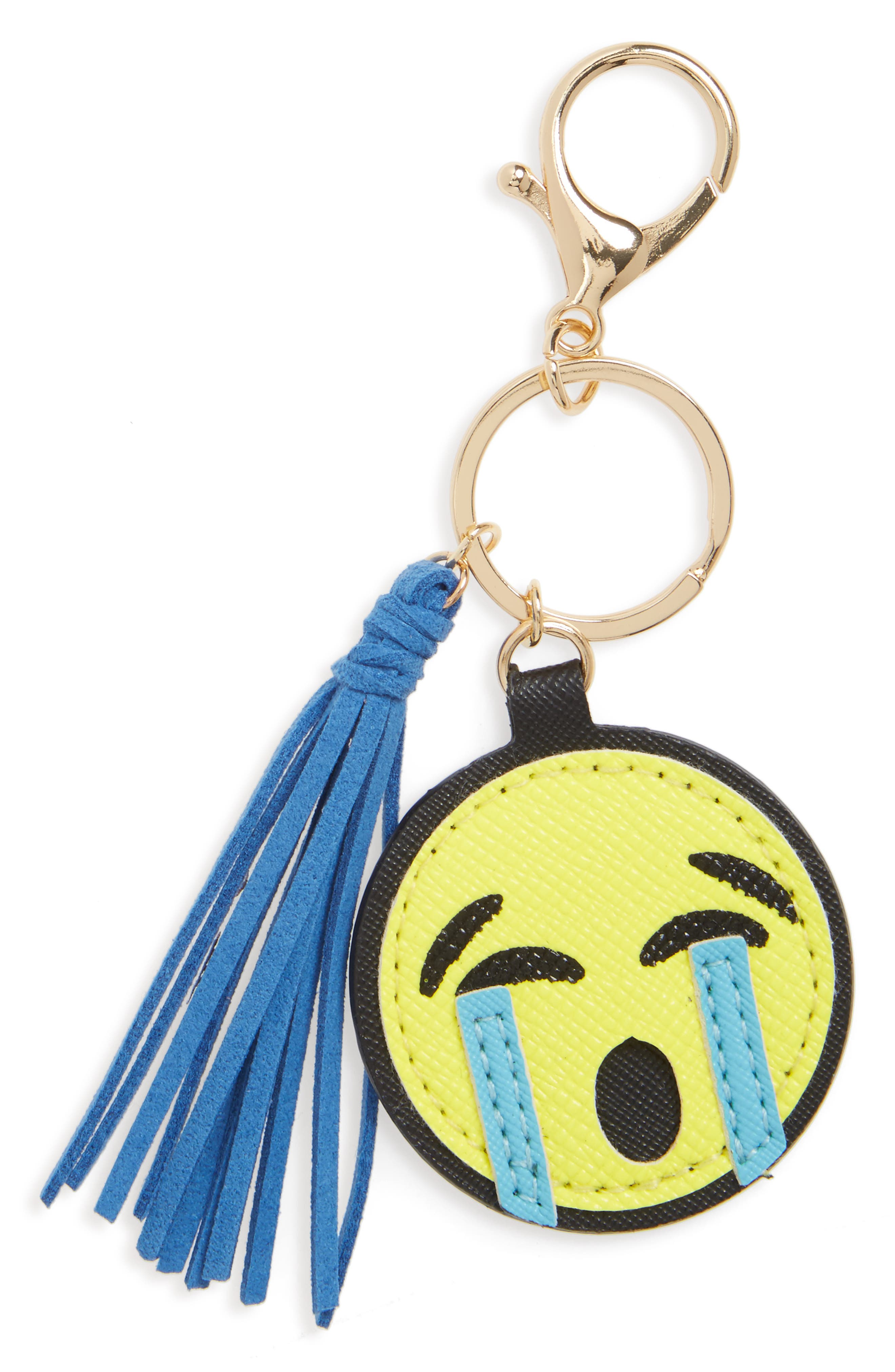 Cara Teary Emoji Key Chain
