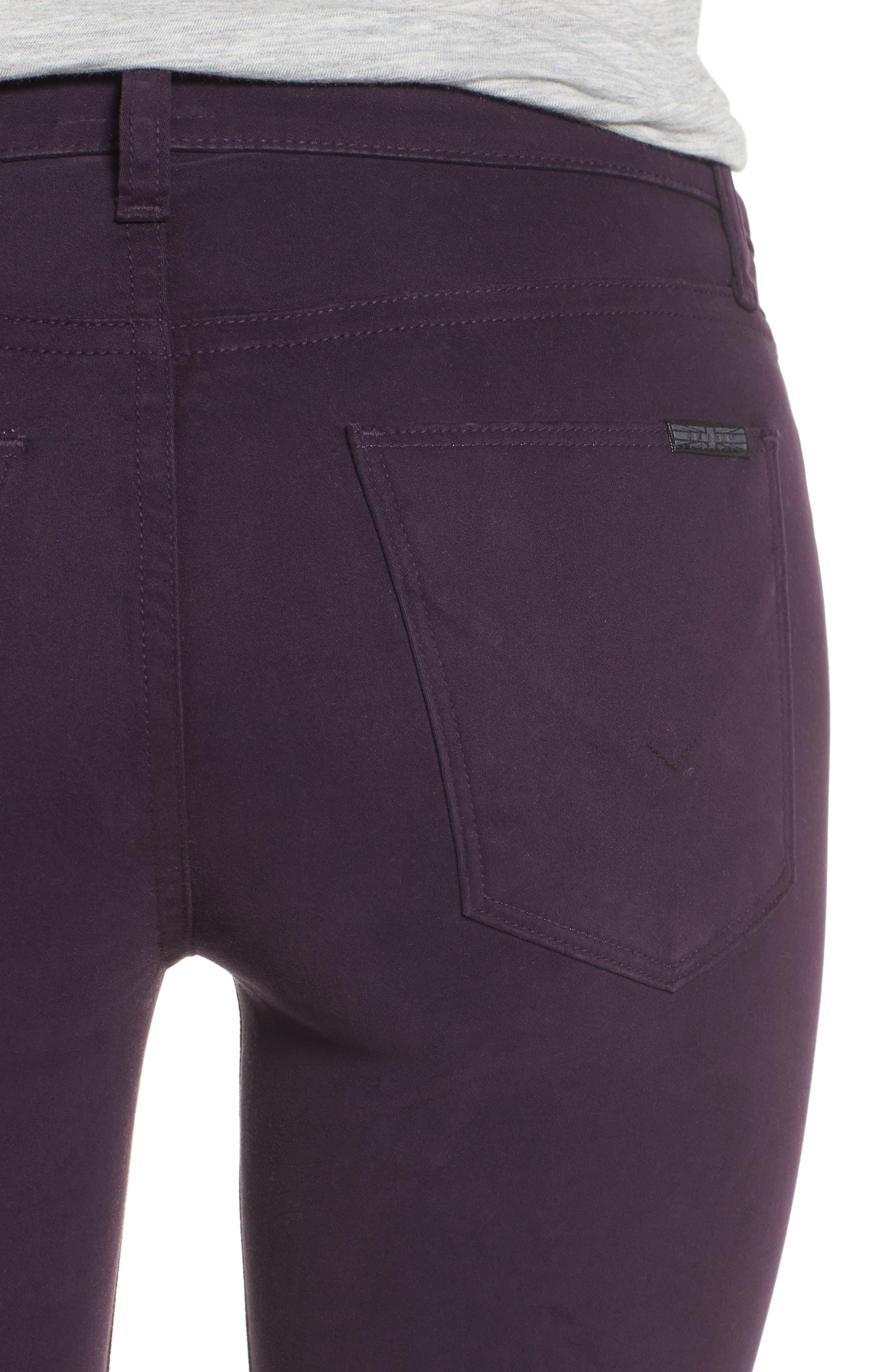 Nico Ankle Skinny Pants,                             Alternate thumbnail 4, color,                             Velvet Plum