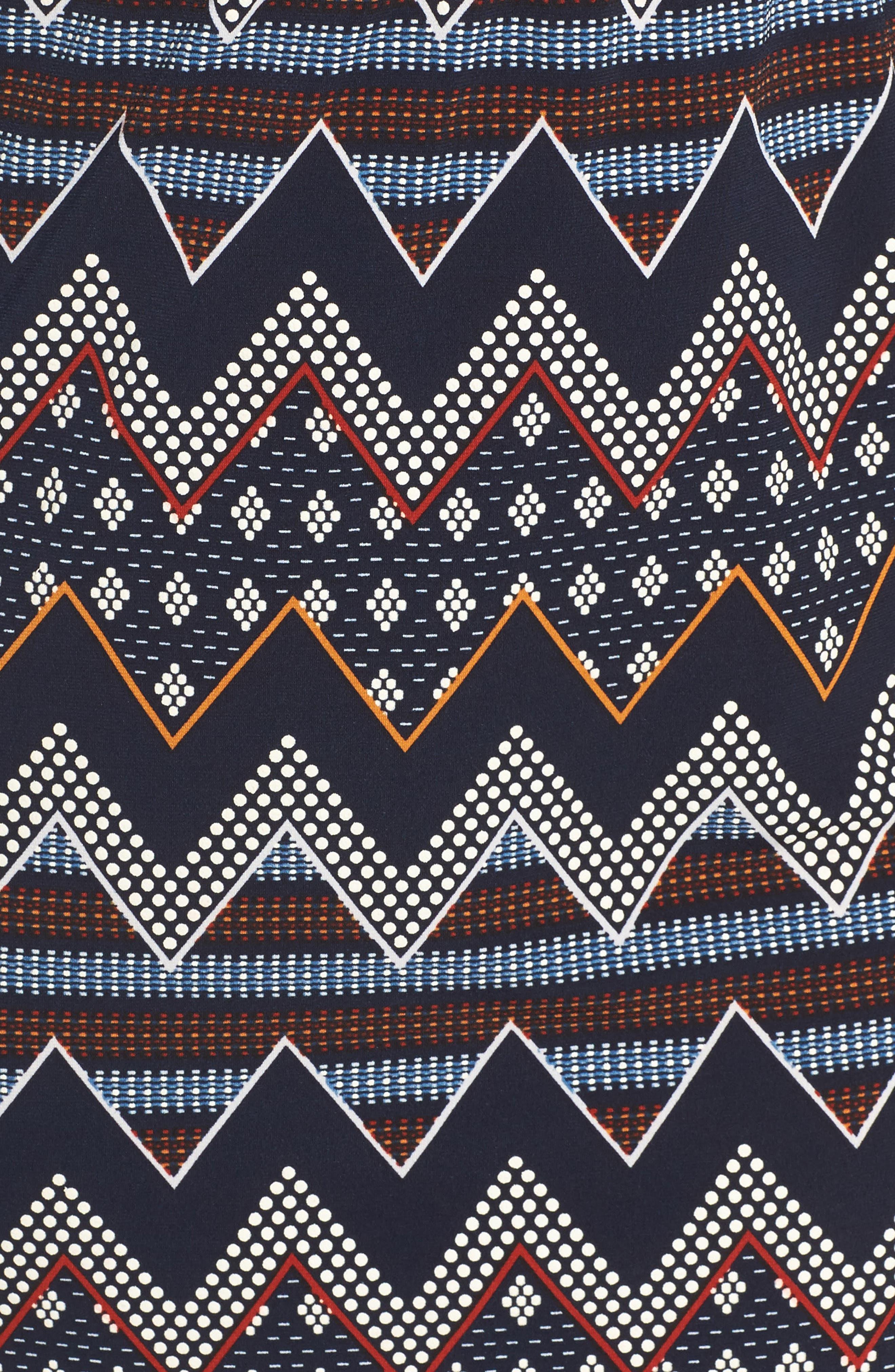 Puff Print Blouson Dress,                             Alternate thumbnail 5, color,                             Multi
