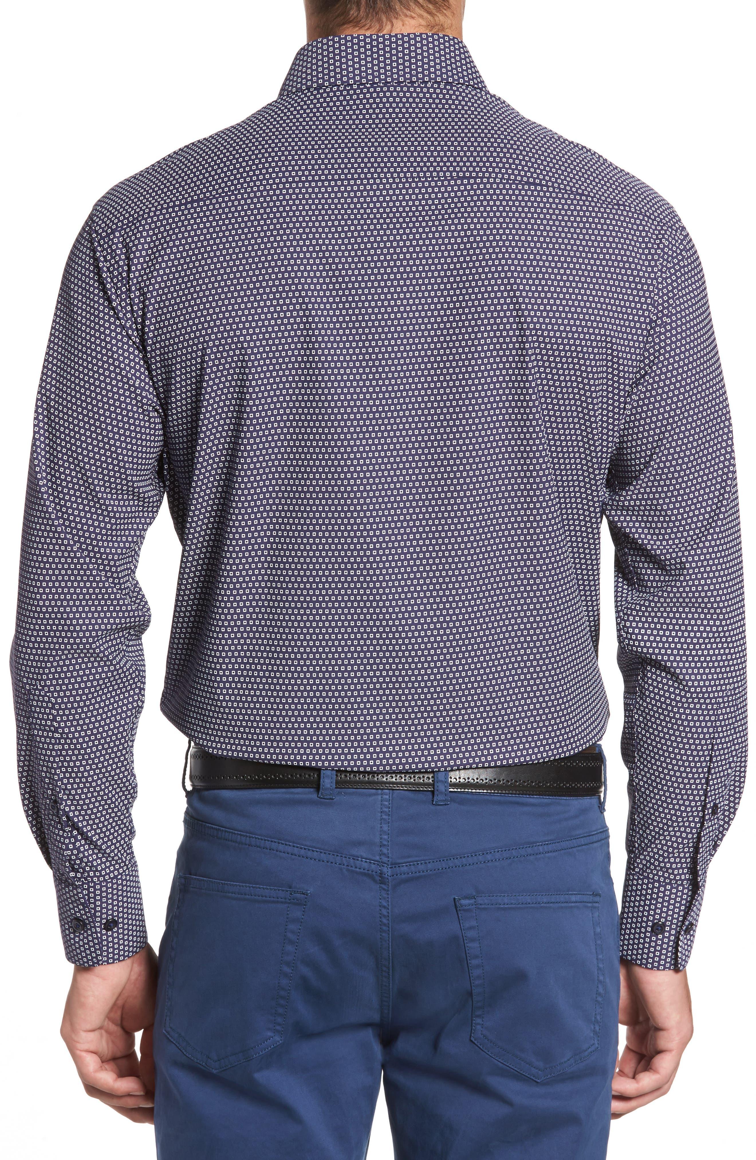 Alternate Image 2  - Peter Millar Chex Regular Fit Performance Sport Shirt