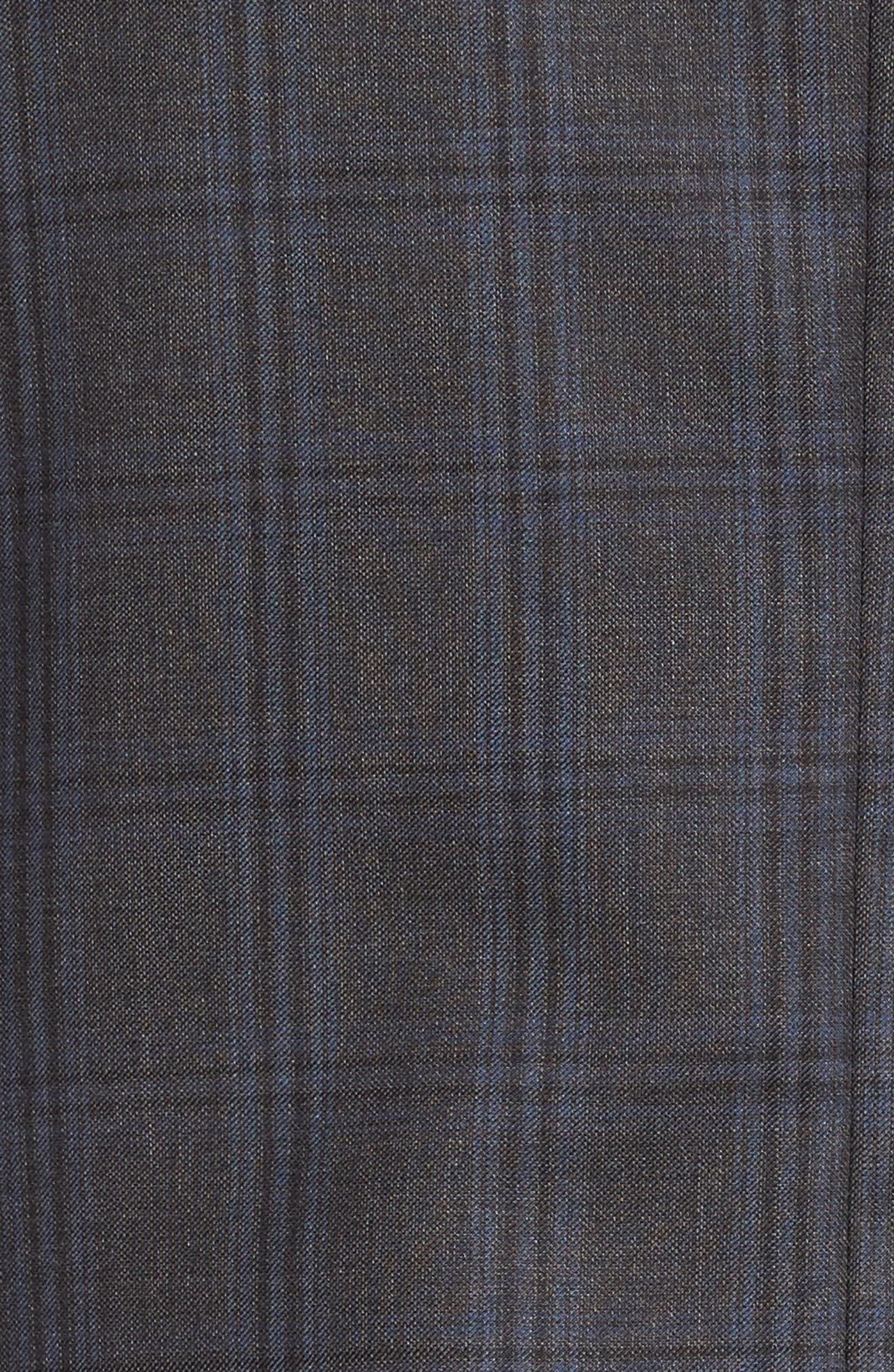 Flynn Classic Fit Plaid Wool Suit,                             Alternate thumbnail 7, color,                             Grey