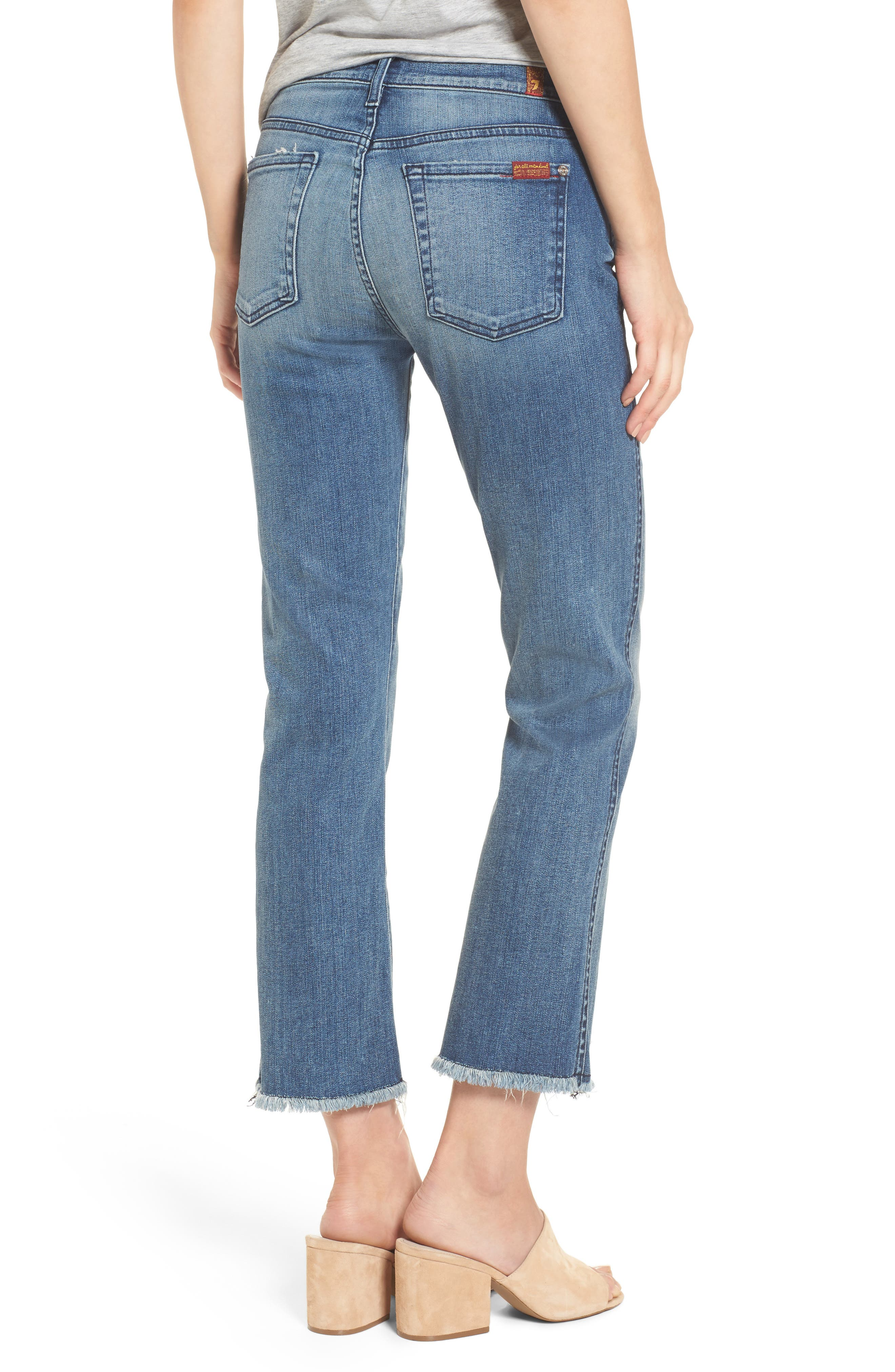 Alternate Image 2  - 7 For All Mankind® Crop Bootcut Jeans (Wall Street Heritage)