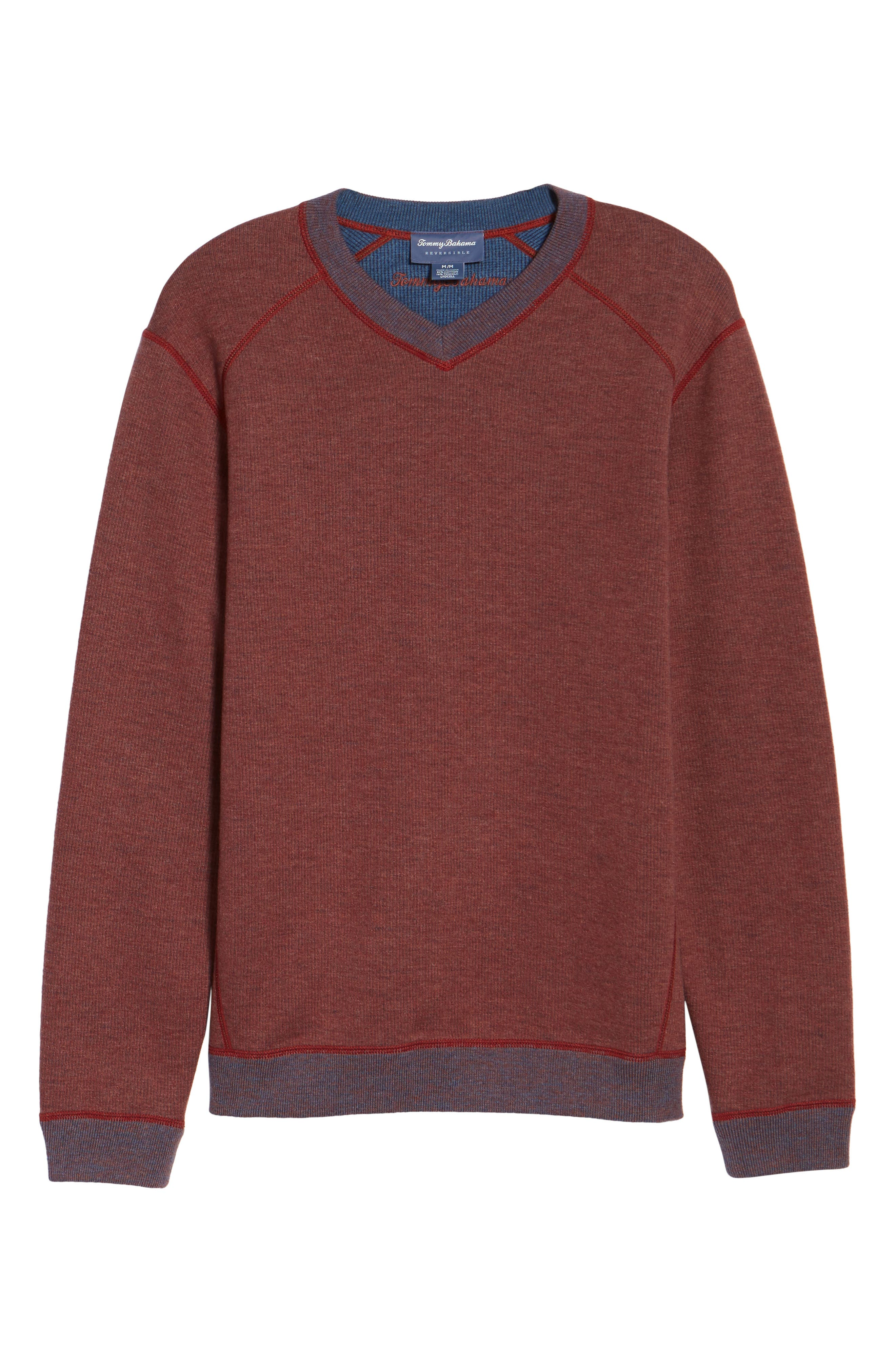 Flipside Pro Reversible Sweatshirt,                             Alternate thumbnail 6, color,                             Pompeya Heather