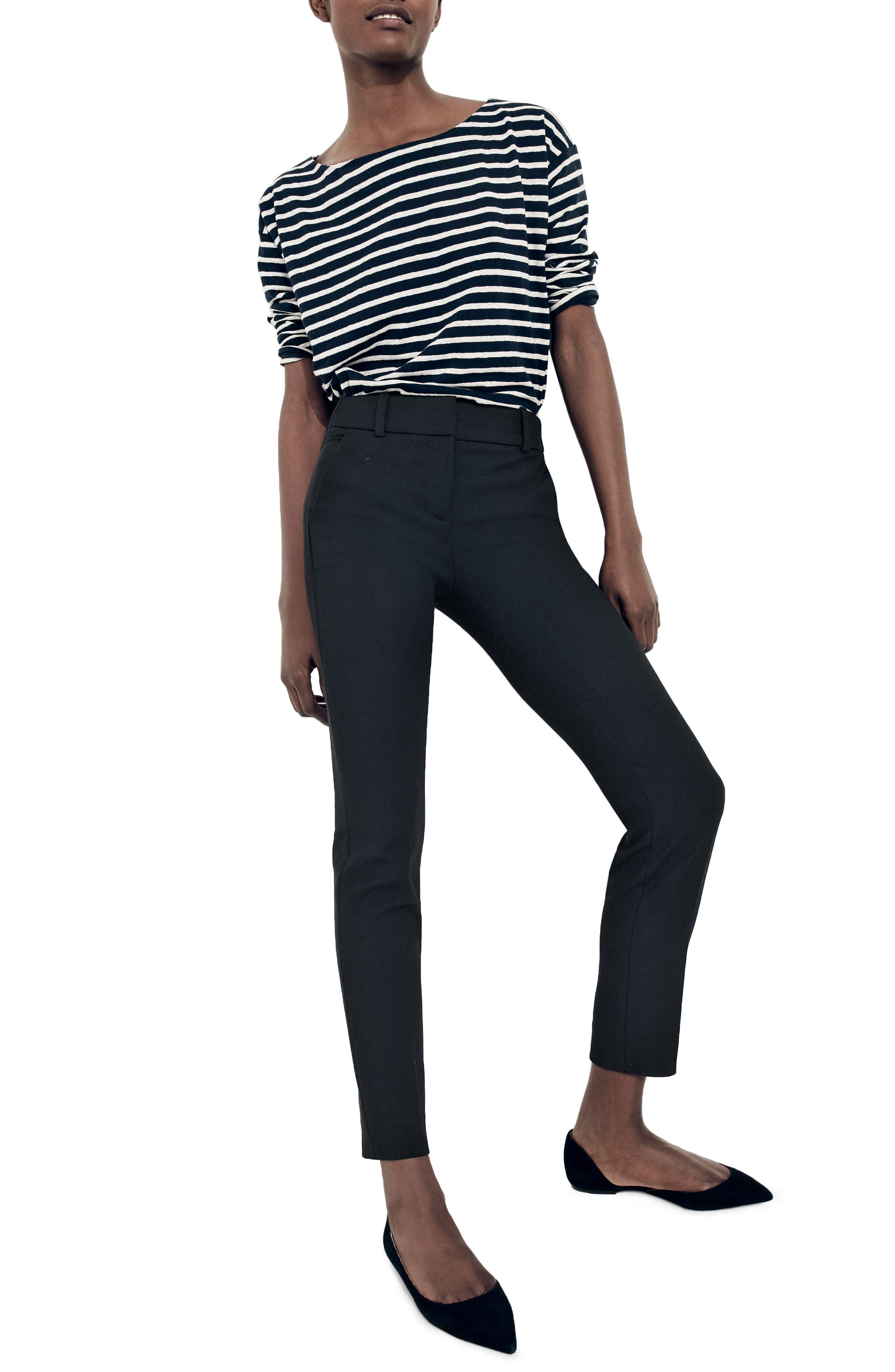 Cameron Four Season Crop Pants,                         Main,                         color, Black