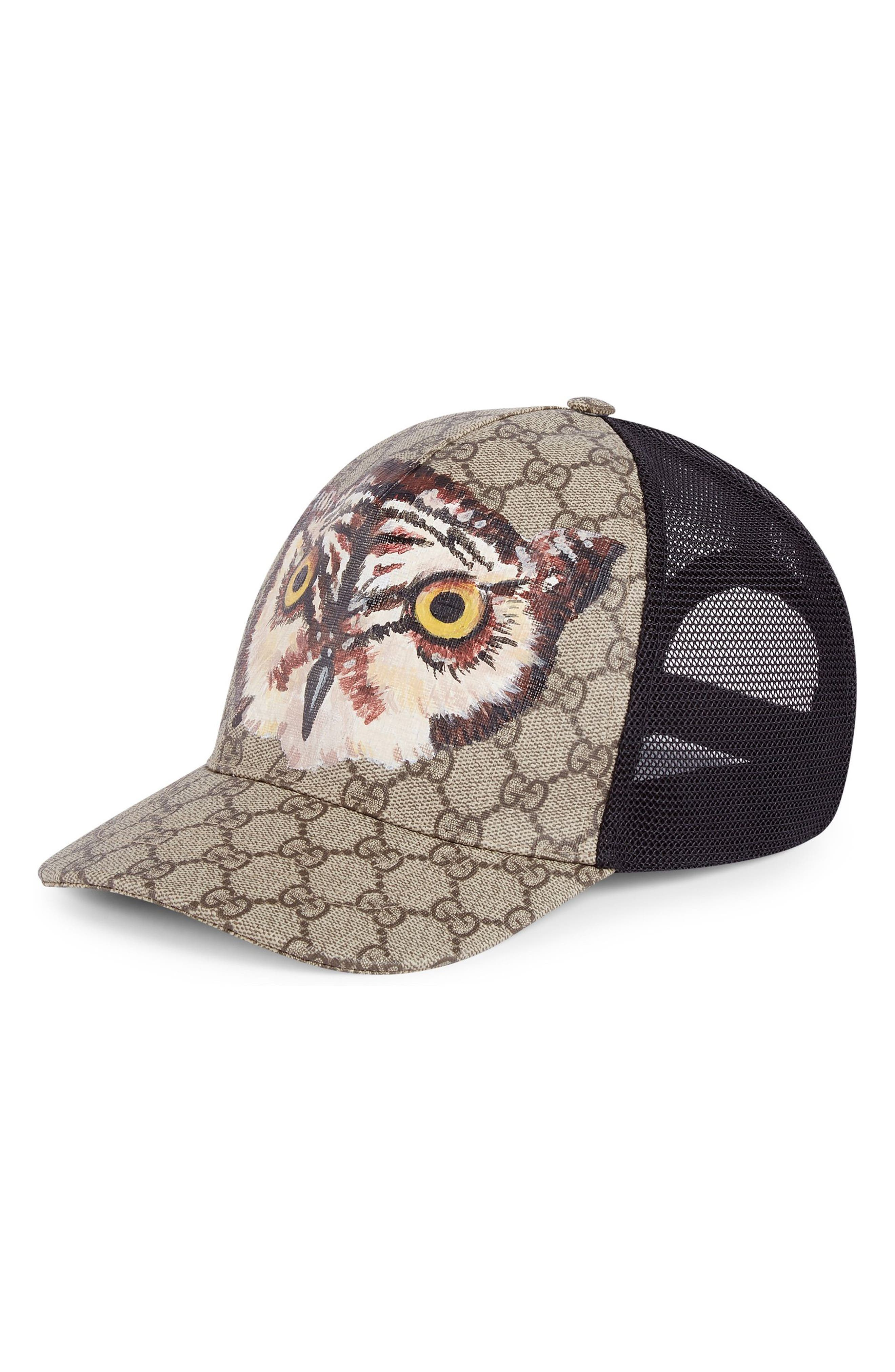 Gucci GG Supreme Own Mesh Trucker Cap