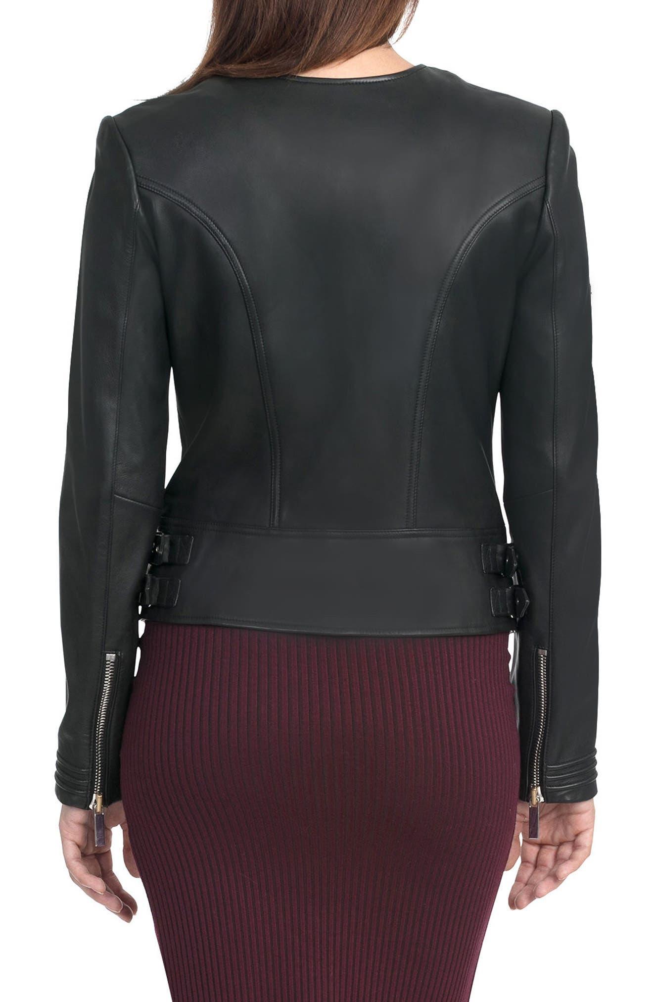 Alternate Image 2  - Bagatelle Pintucked Moto Jacket