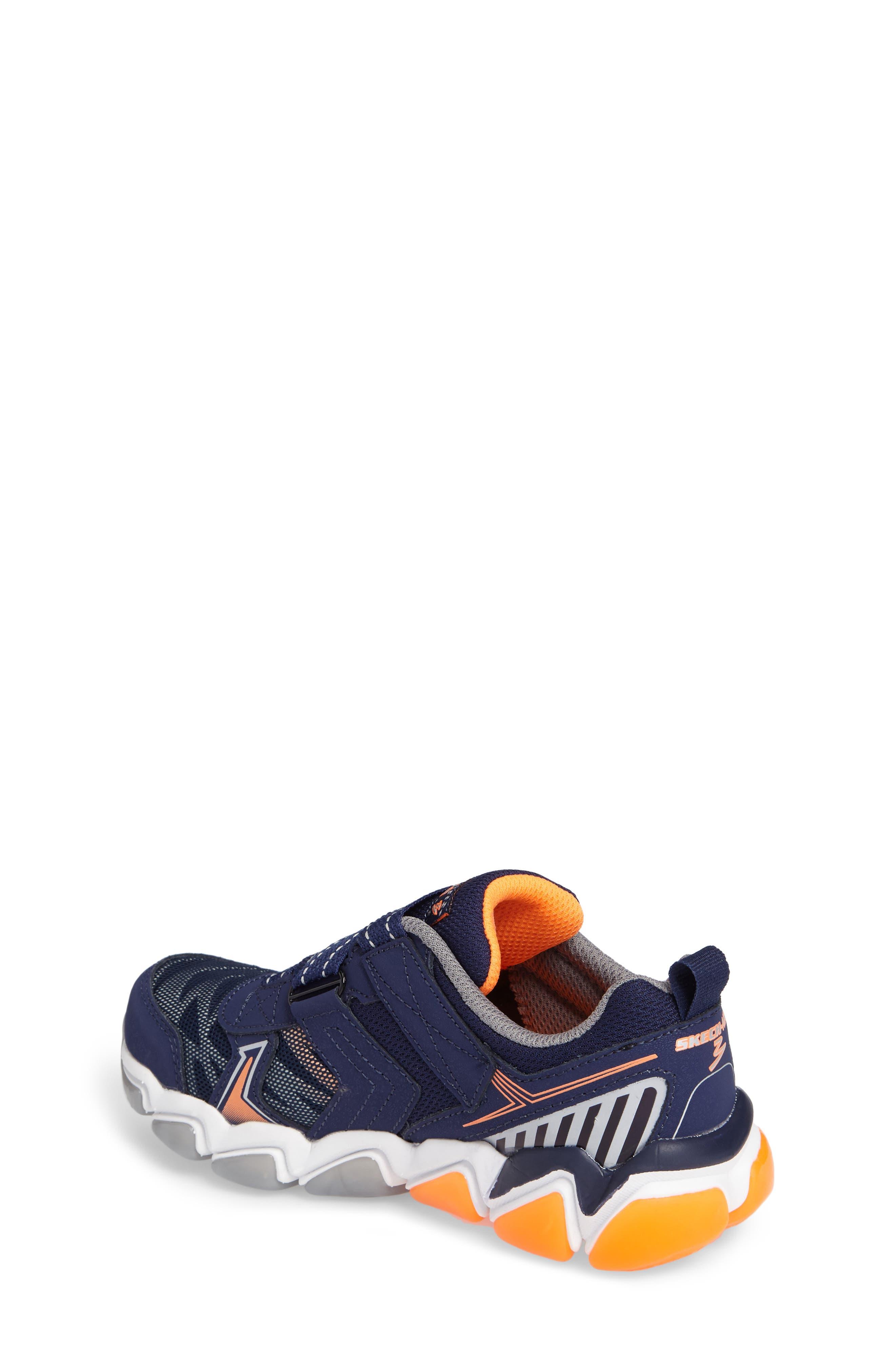Skech-Air 3.0 Downswitch Sneaker,                             Alternate thumbnail 2, color,                             Navy/ Orange