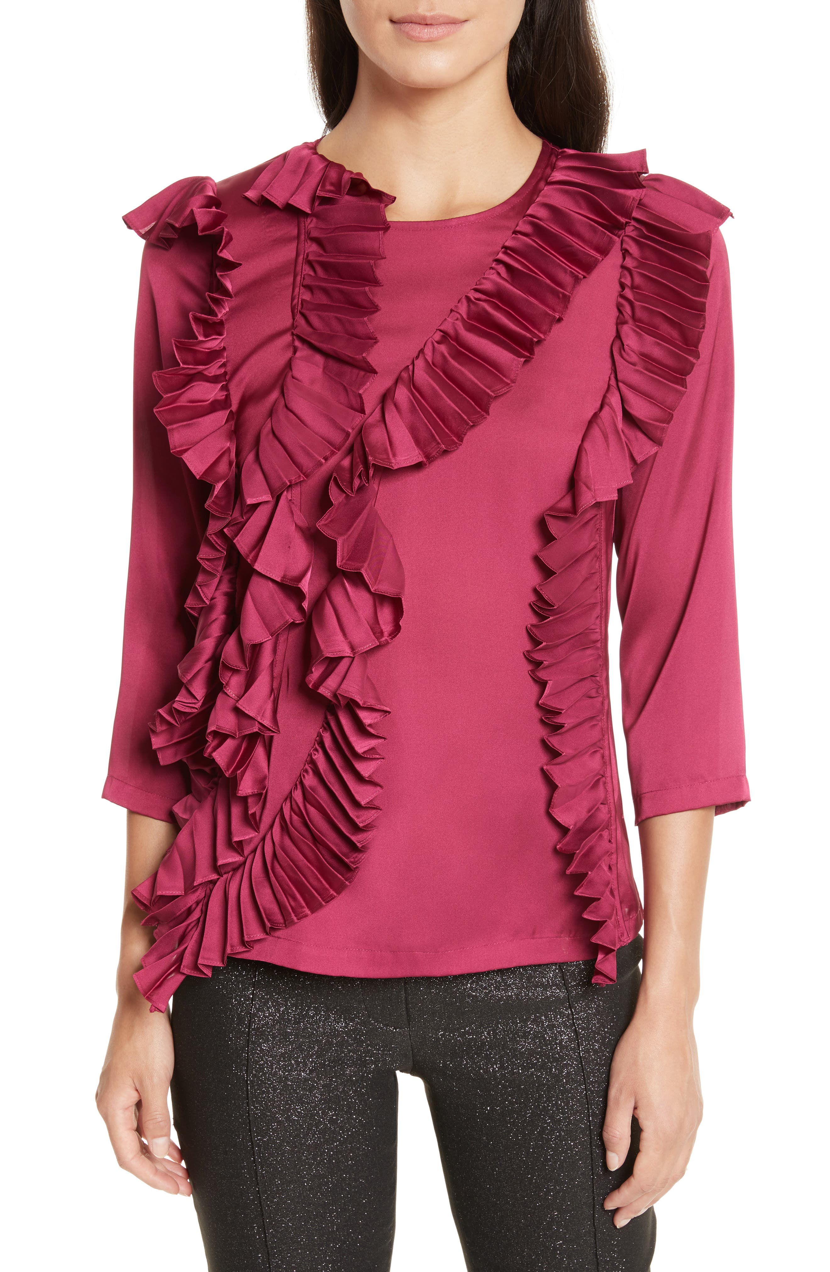 Tracy Reese Cascade Pleat Blouse