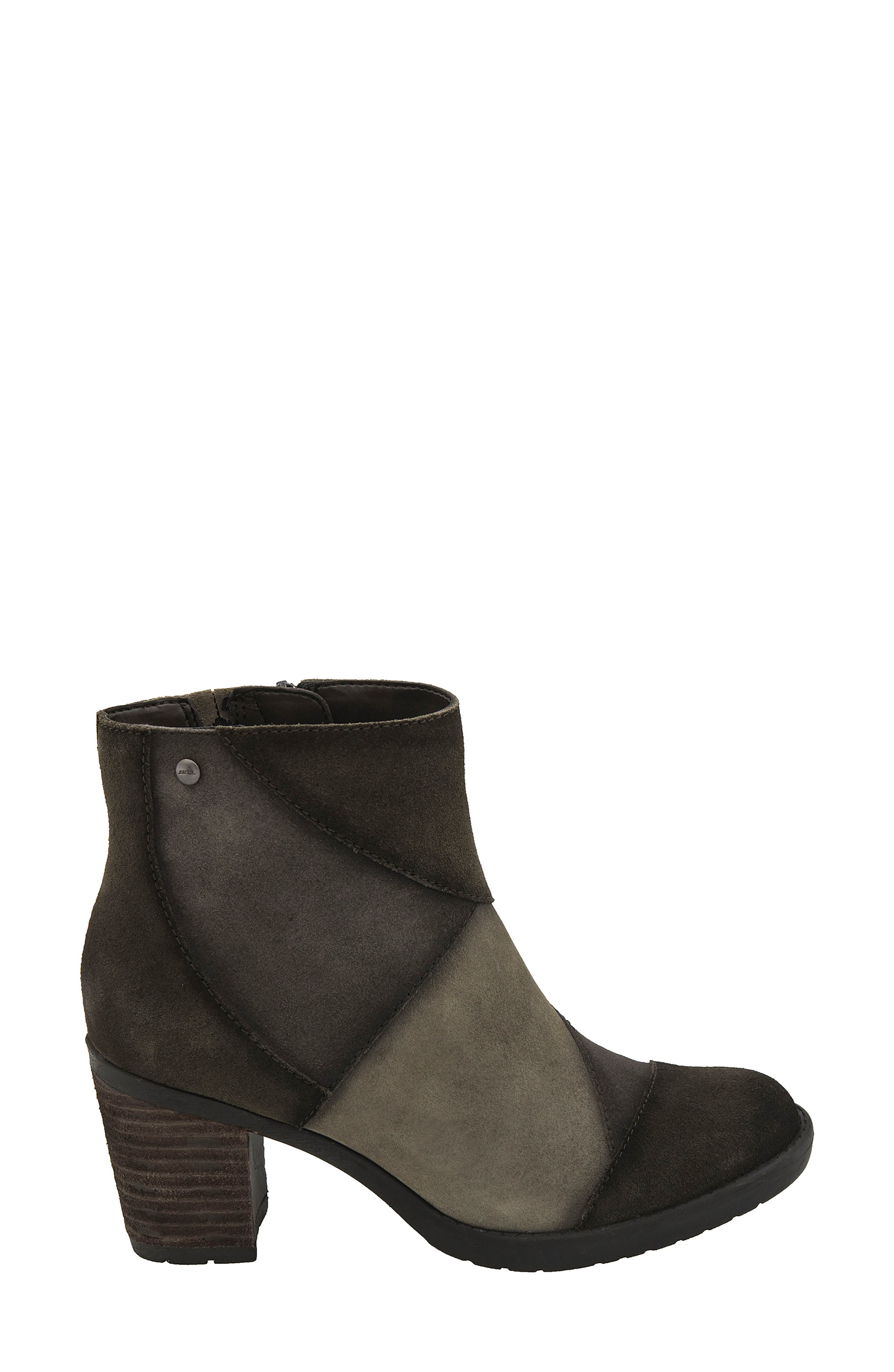 Malta Water Resistant Bootie,                             Alternate thumbnail 3, color,                             Olive Suede