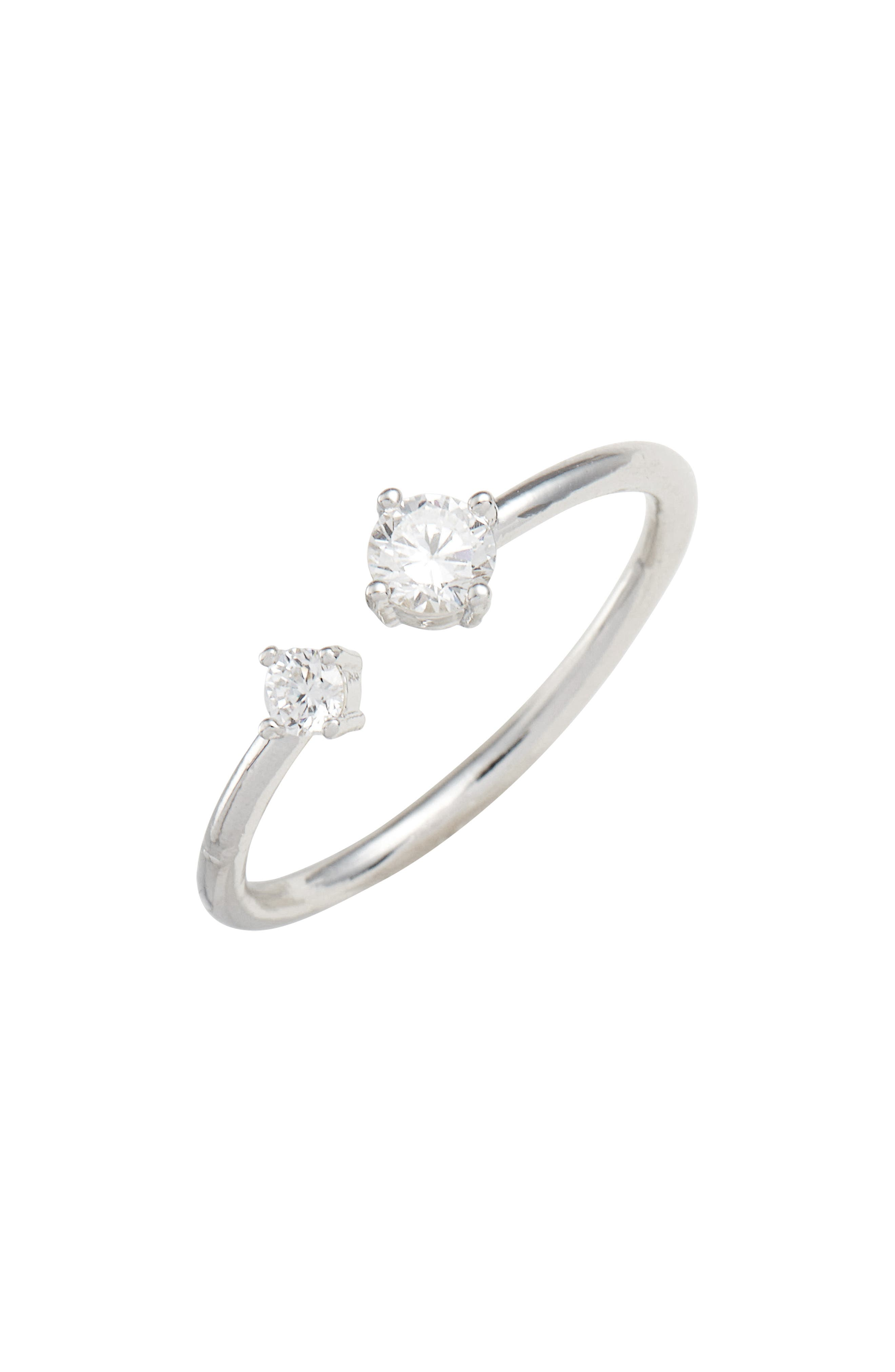 Briane Stackable Ring,                         Main,                         color, Silver