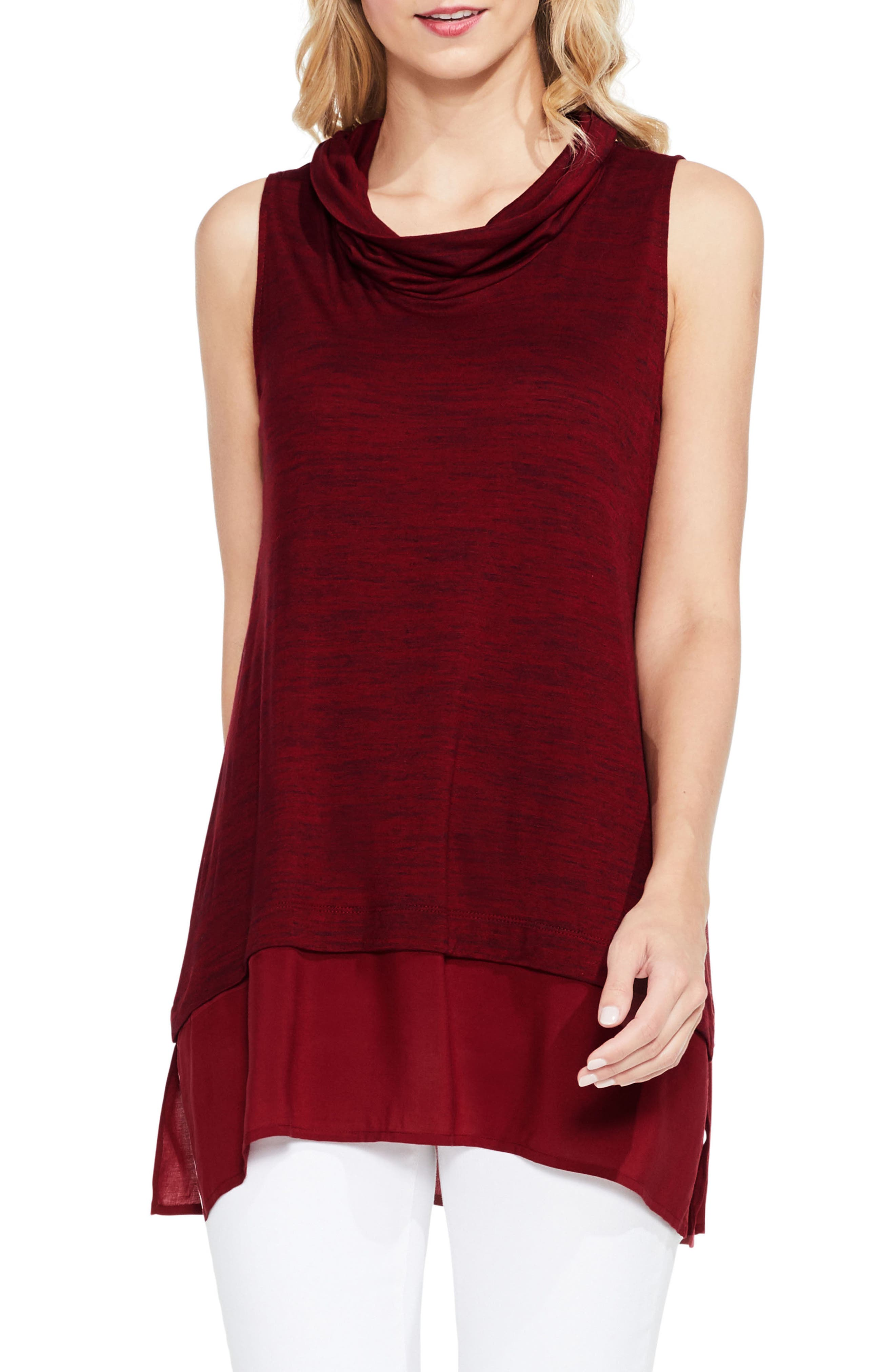 Two by Vince Camuto Space Dye Knit Top