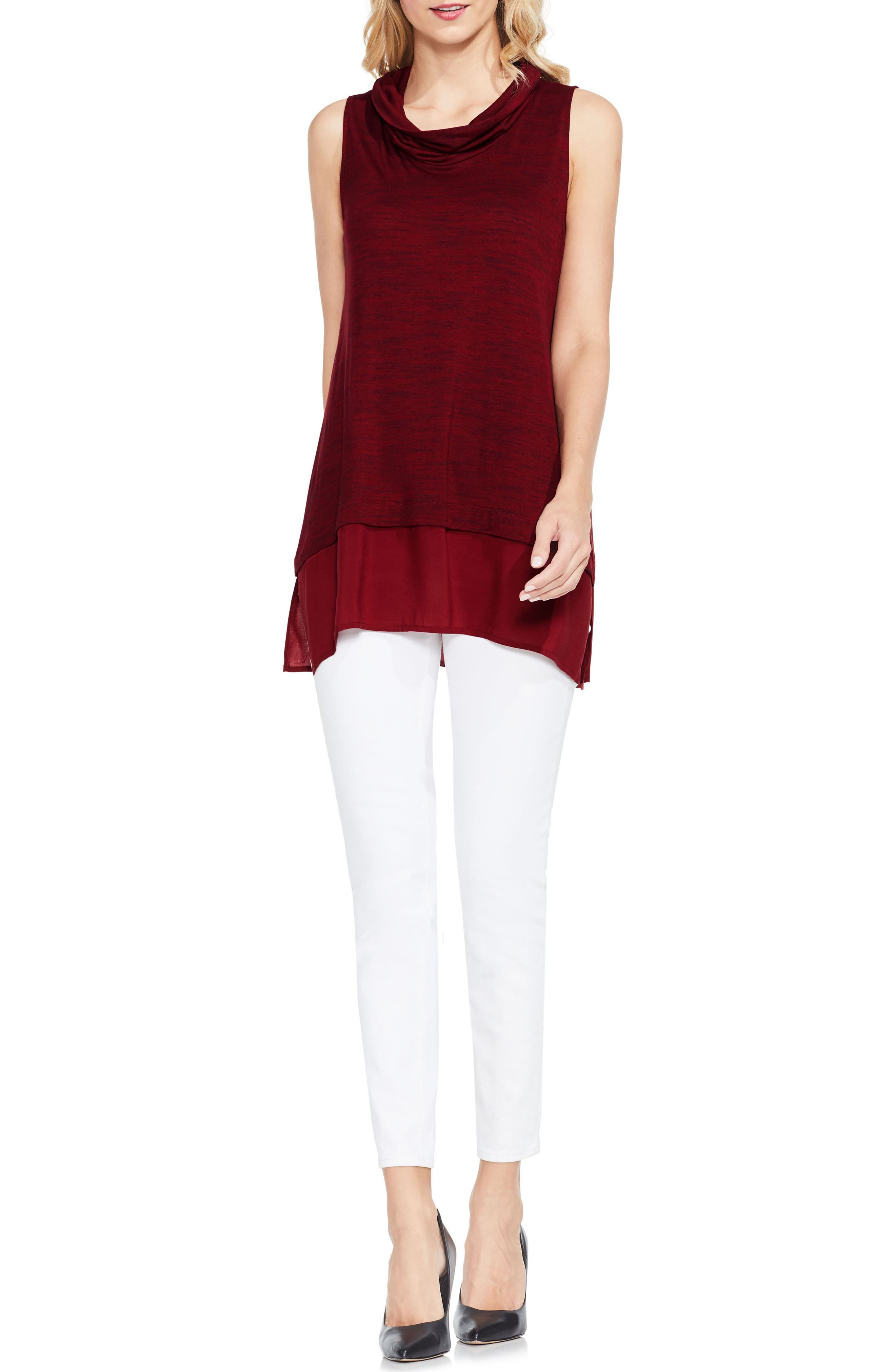 Alternate Image 2  - Two by Vince Camuto Space Dye Knit Top