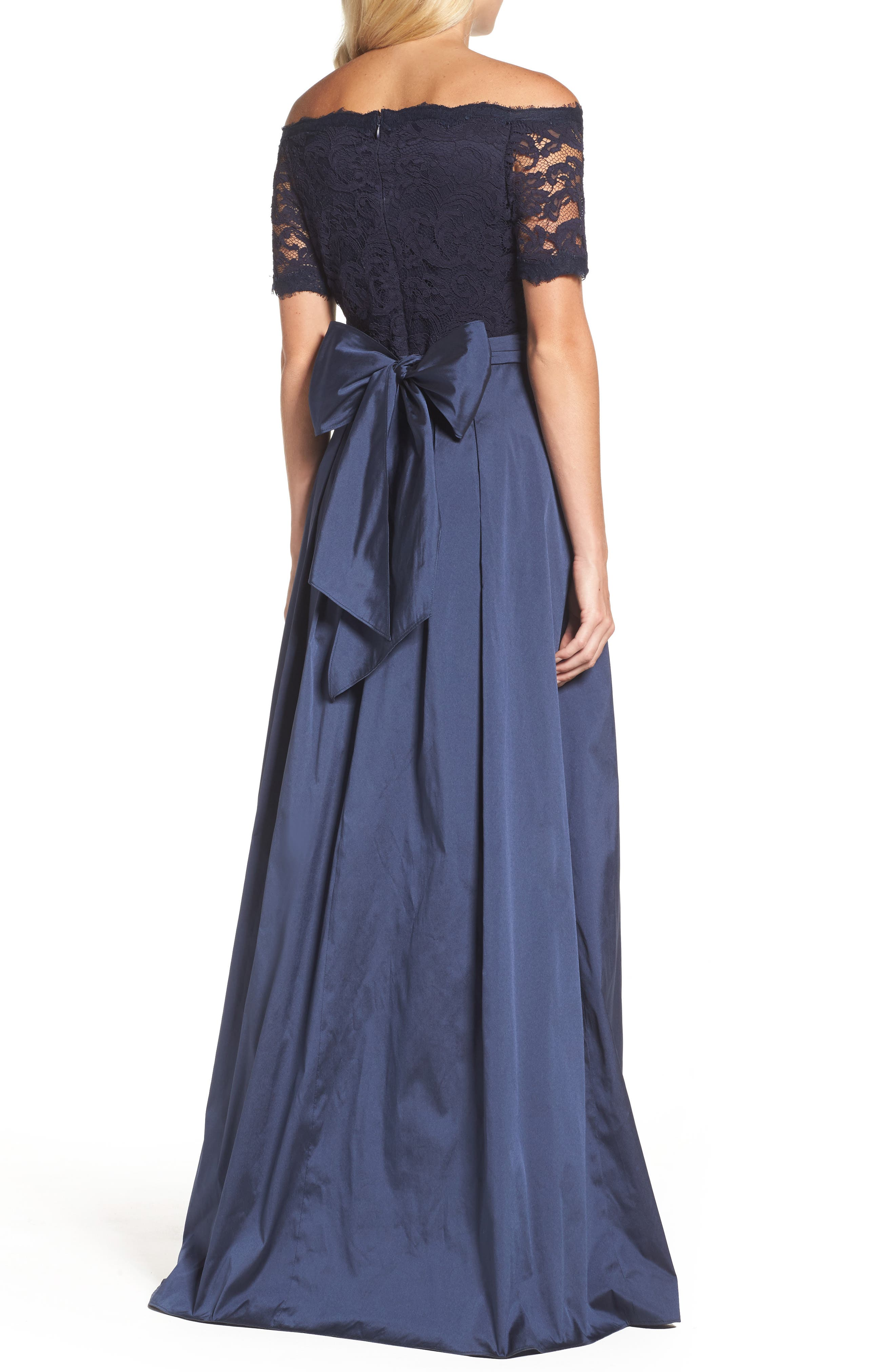 Alternate Image 2  - Adrianna Papell Off the Shoulder Gown