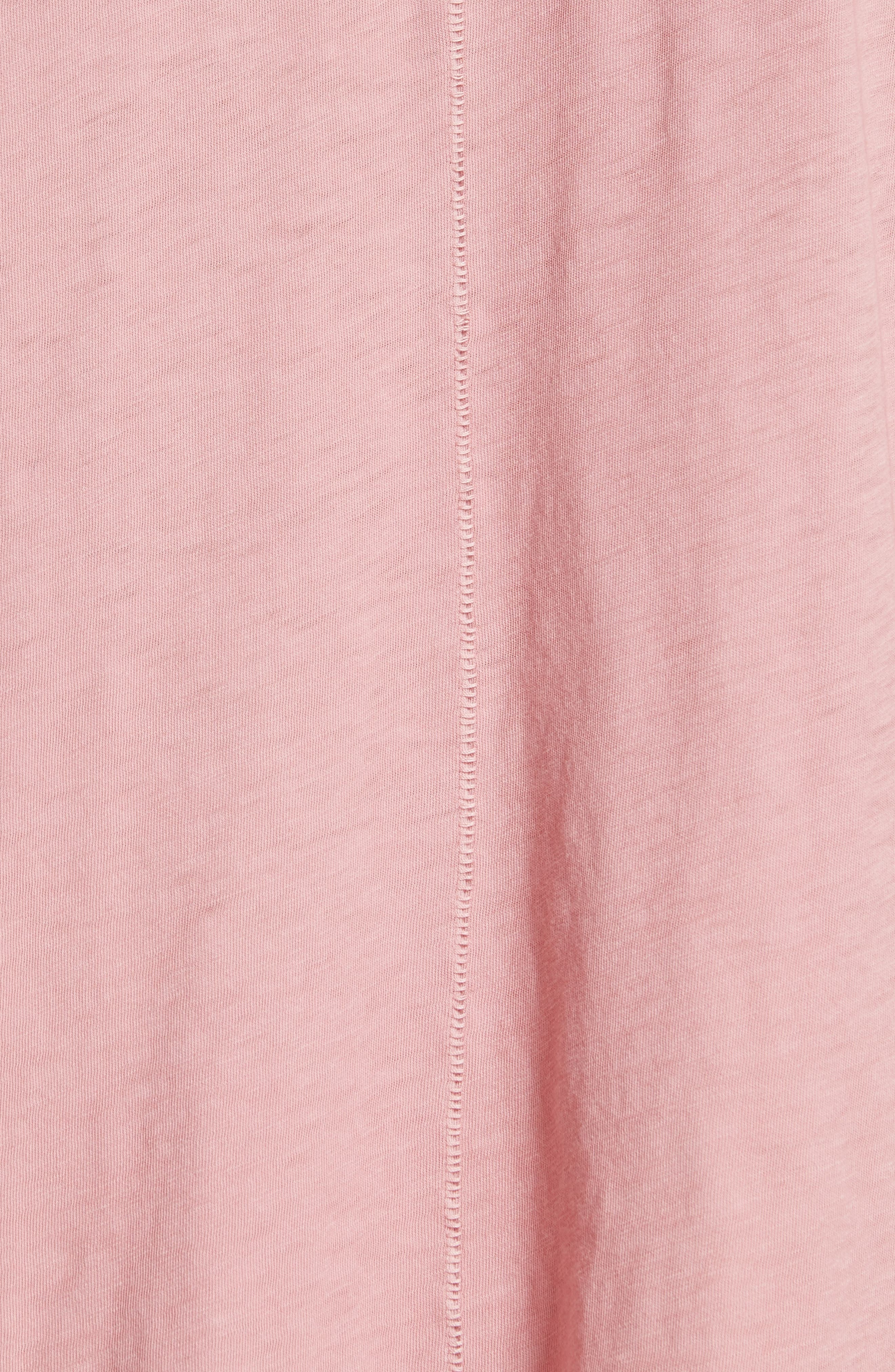 Vintage Pocket Tee,                             Alternate thumbnail 5, color,                             Deep Pink
