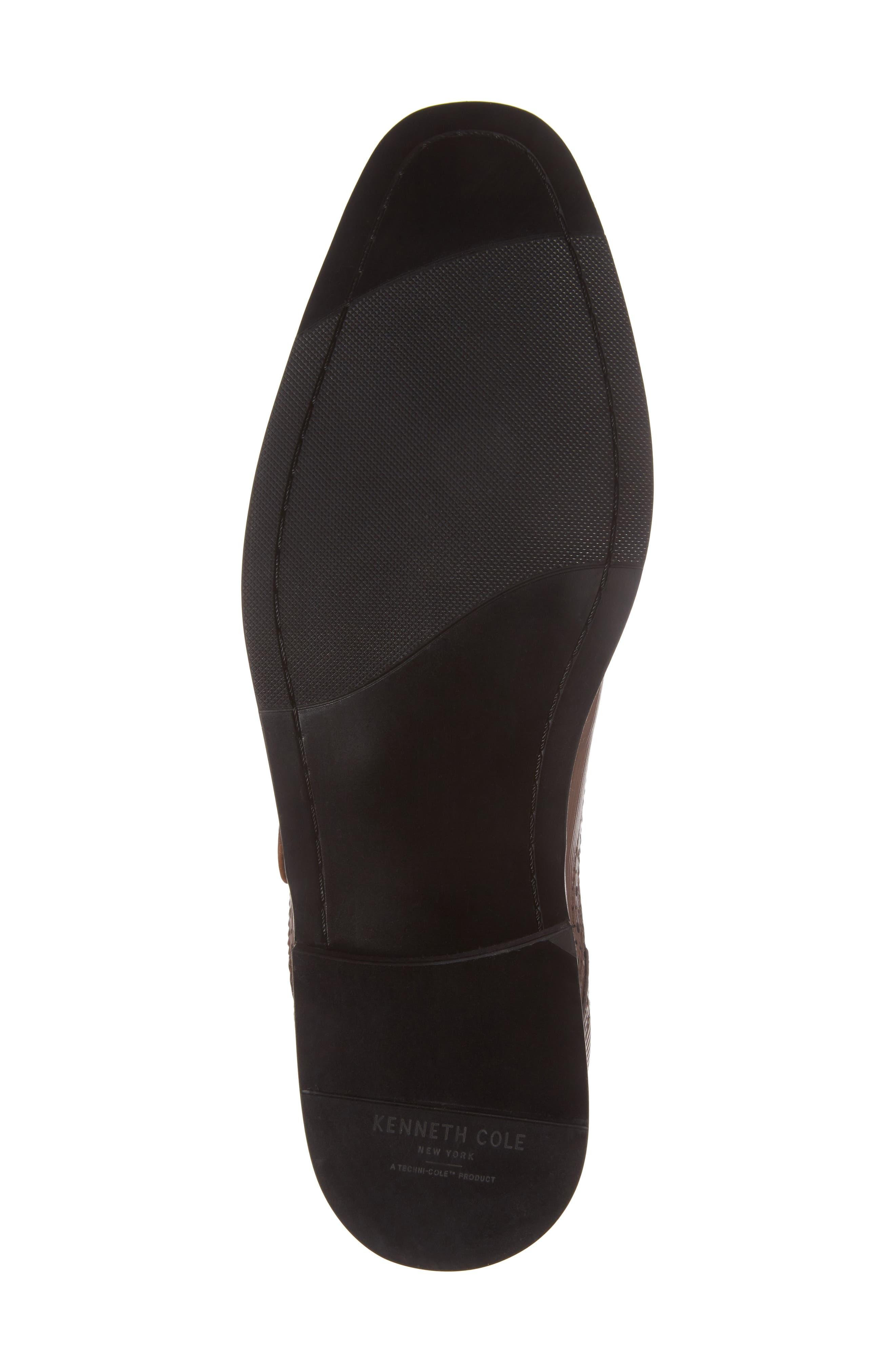 Design Monk Strap Shoe,                             Alternate thumbnail 6, color,                             Cognac Leather