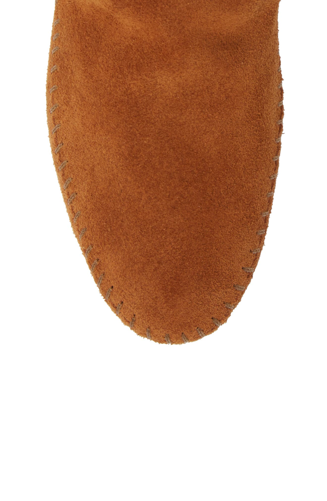 Two-Button Softsole Bootie,                             Alternate thumbnail 5, color,                             Brown