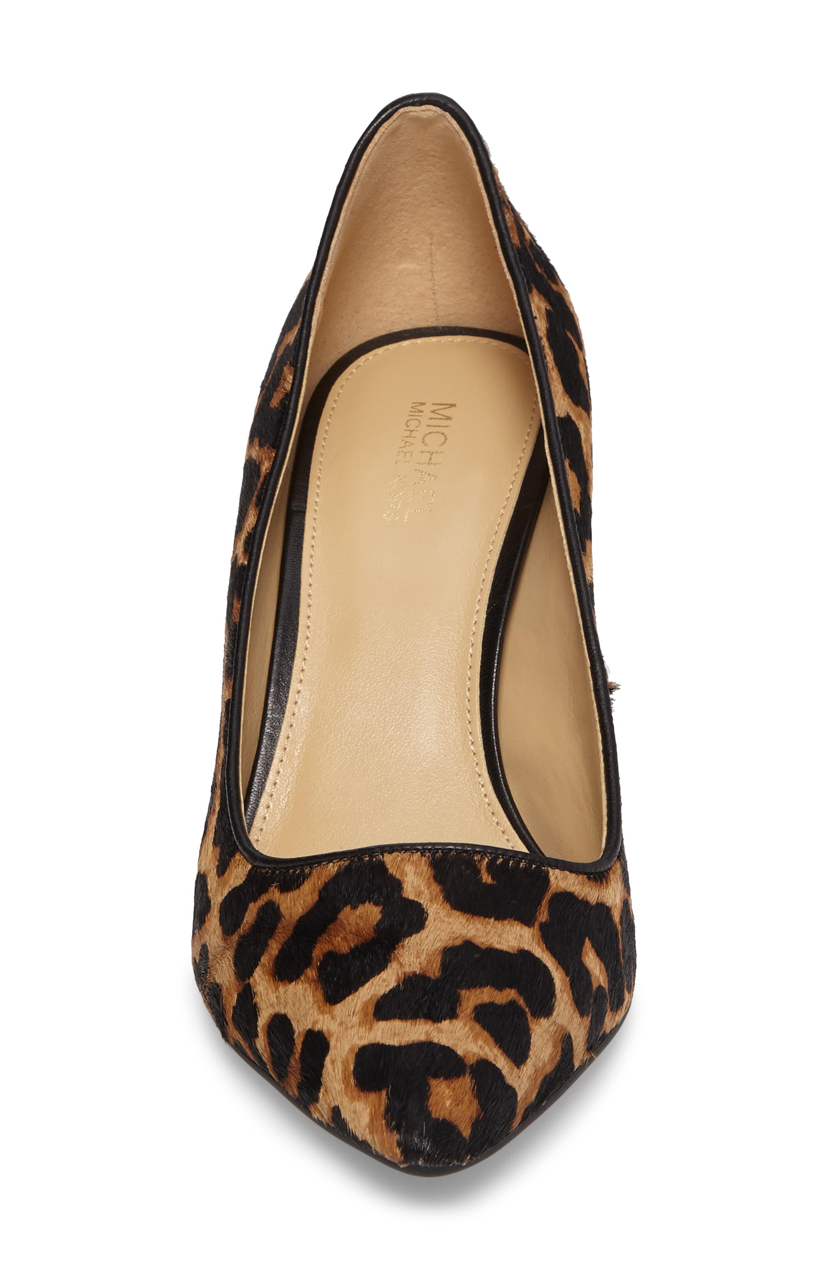 Dorothy Flex Genuine Calf Hair Pump,                             Alternate thumbnail 4, color,                             Cheetah Hair Calf