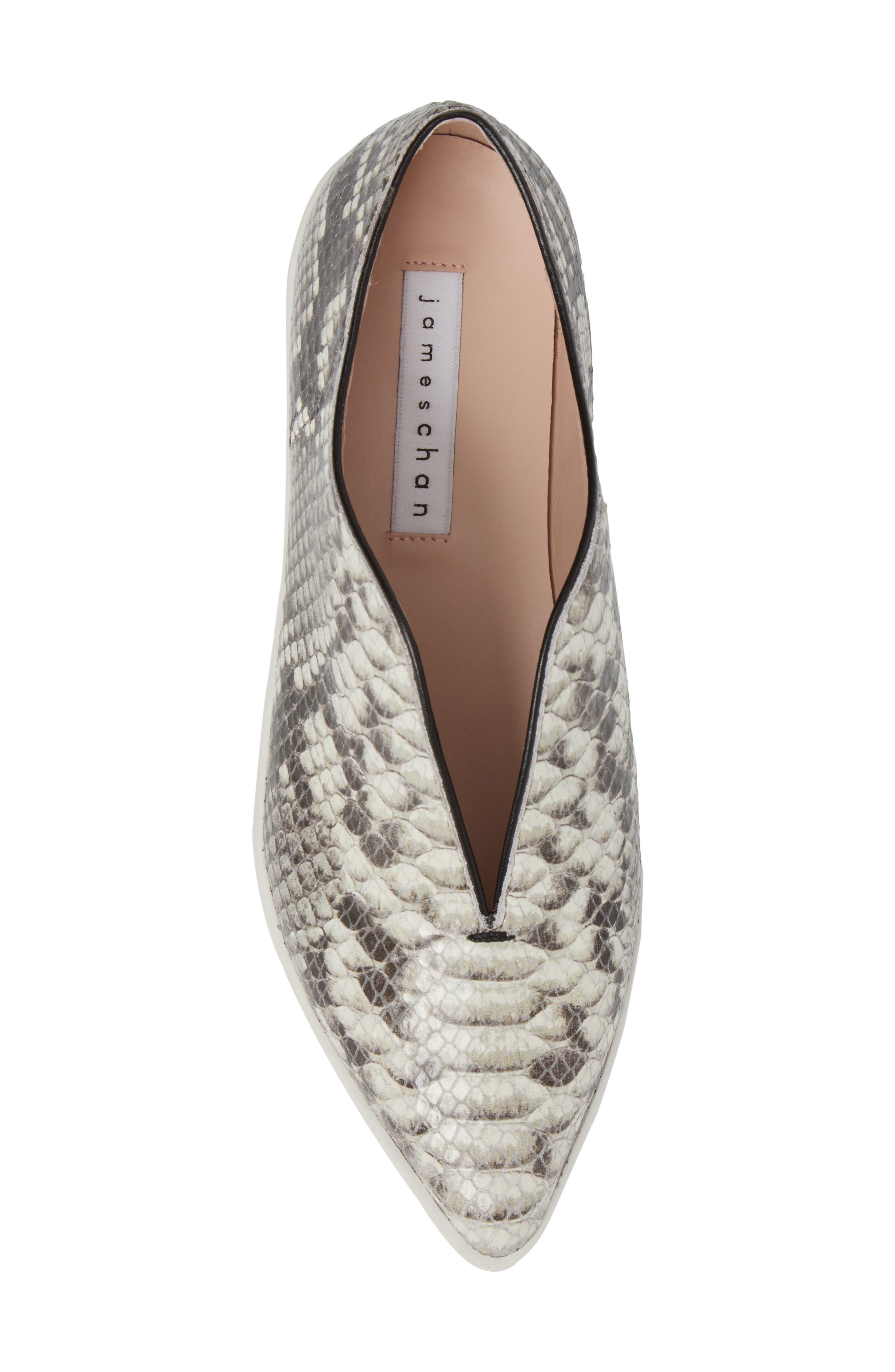 Tisha Slip-On Sneaker,                             Alternate thumbnail 5, color,                             Natural Embossed Leather