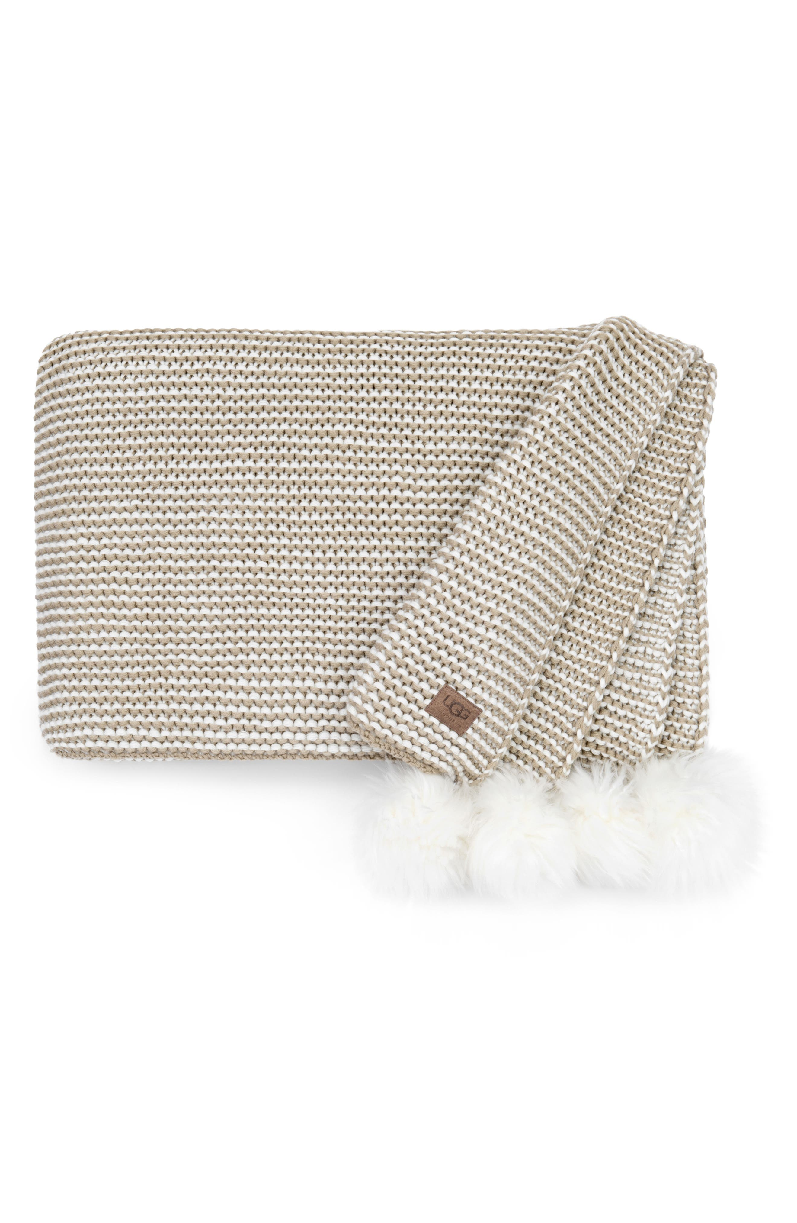 UGG® Snow Creek Genuine Shearling Throw