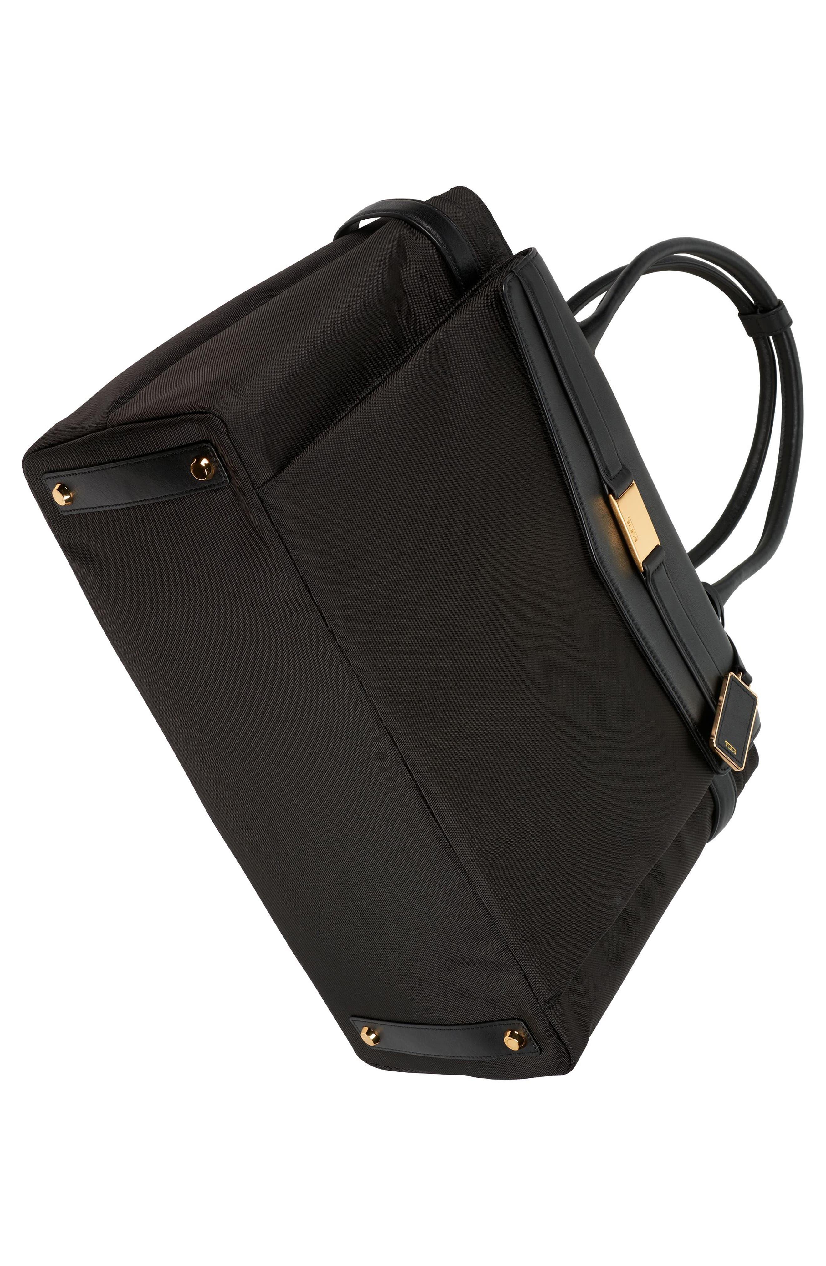 Larkin - Hayward Triple Compartment Nylon Laptop Tote,                             Alternate thumbnail 5, color,                             Black