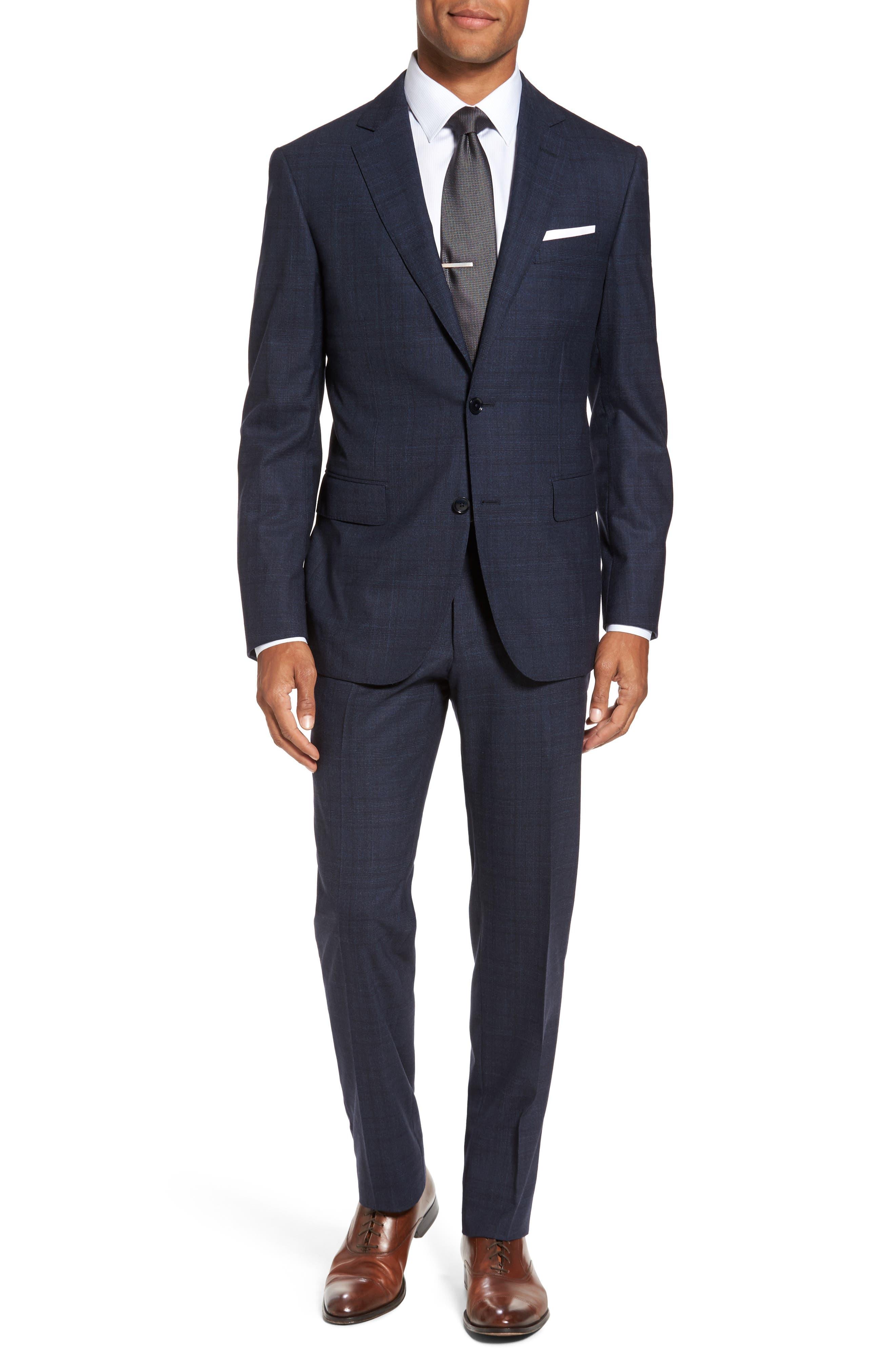 Pal Zileri Classic Fit Glen Plaid Wool Suit