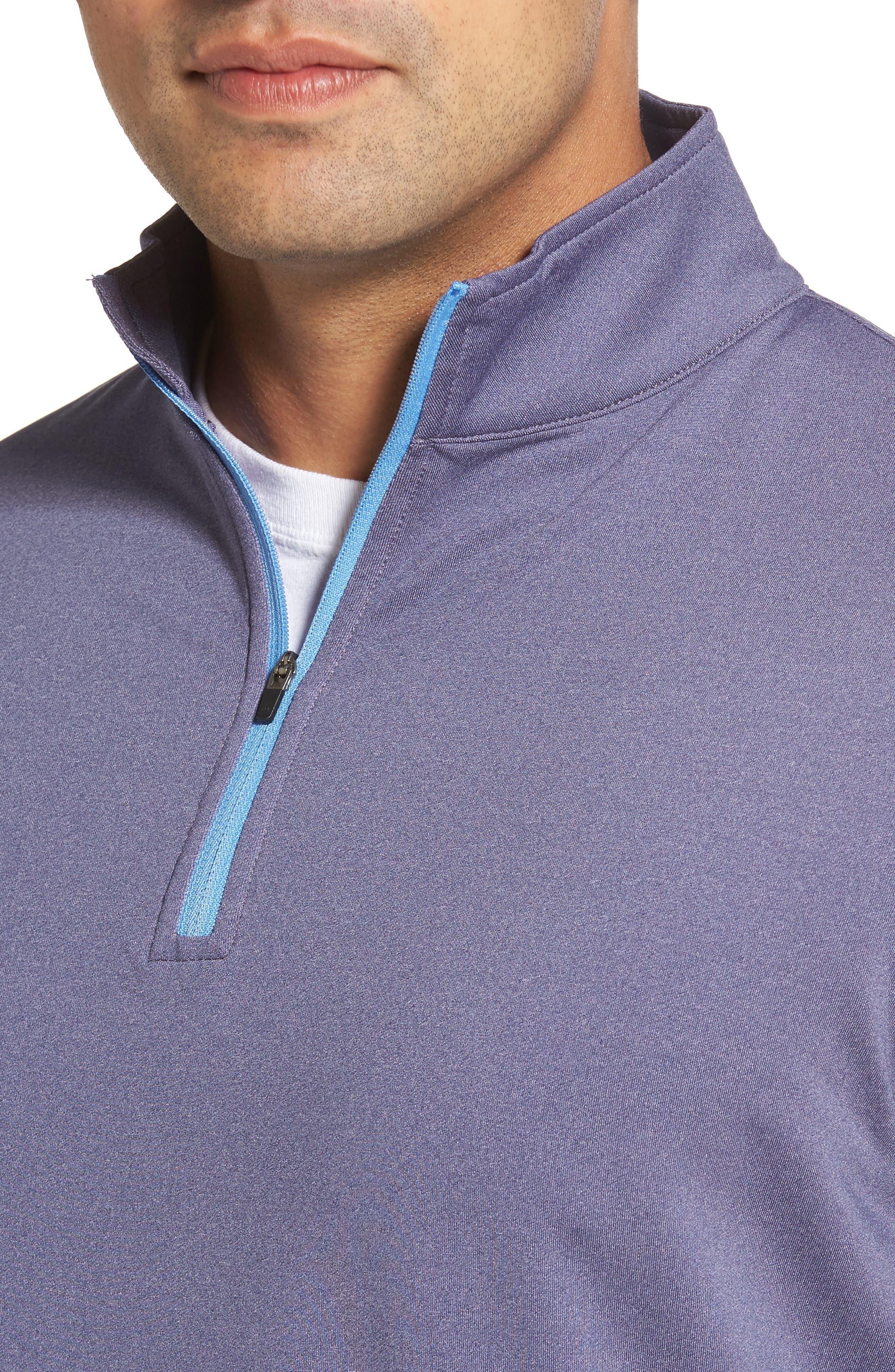 Perth Quarter Zip Stretch Pullover,                             Alternate thumbnail 4, color,                             Blackberry