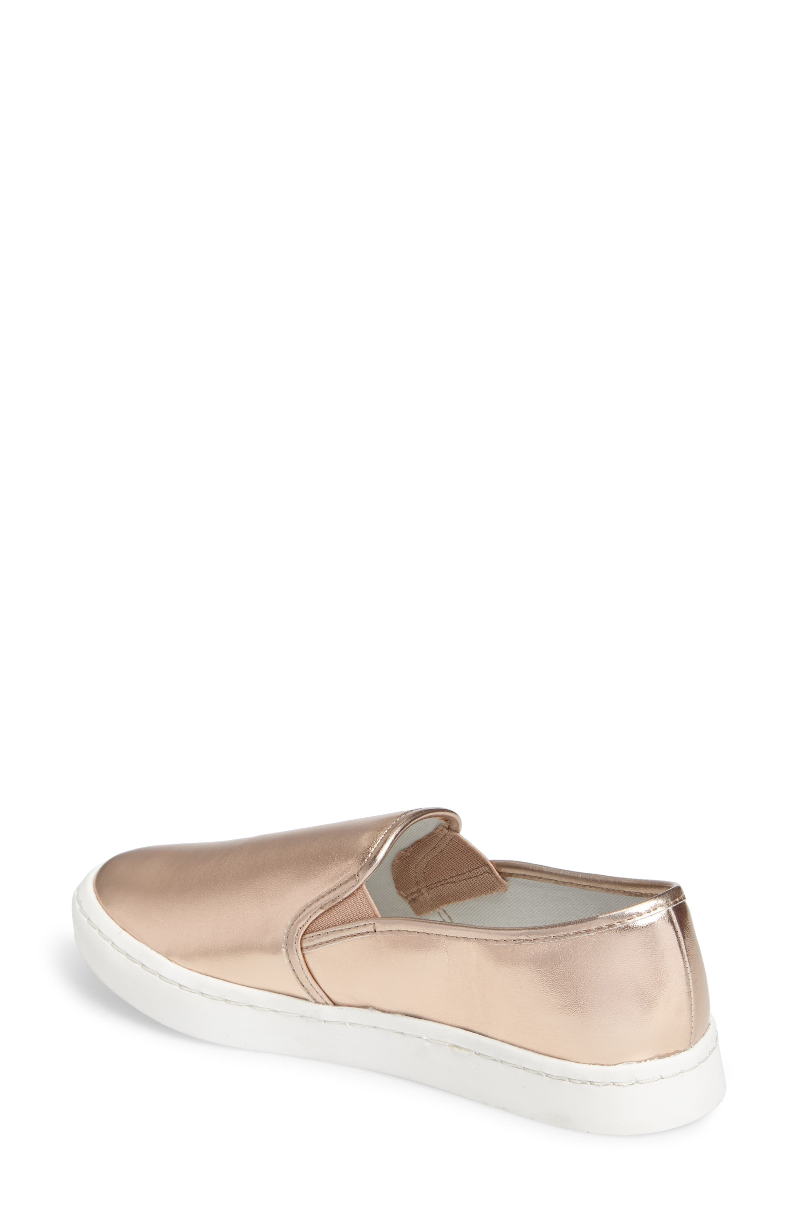 'Twiny' Slip-On Sneaker,                             Alternate thumbnail 2, color,                             Rose Gold Faux Leather