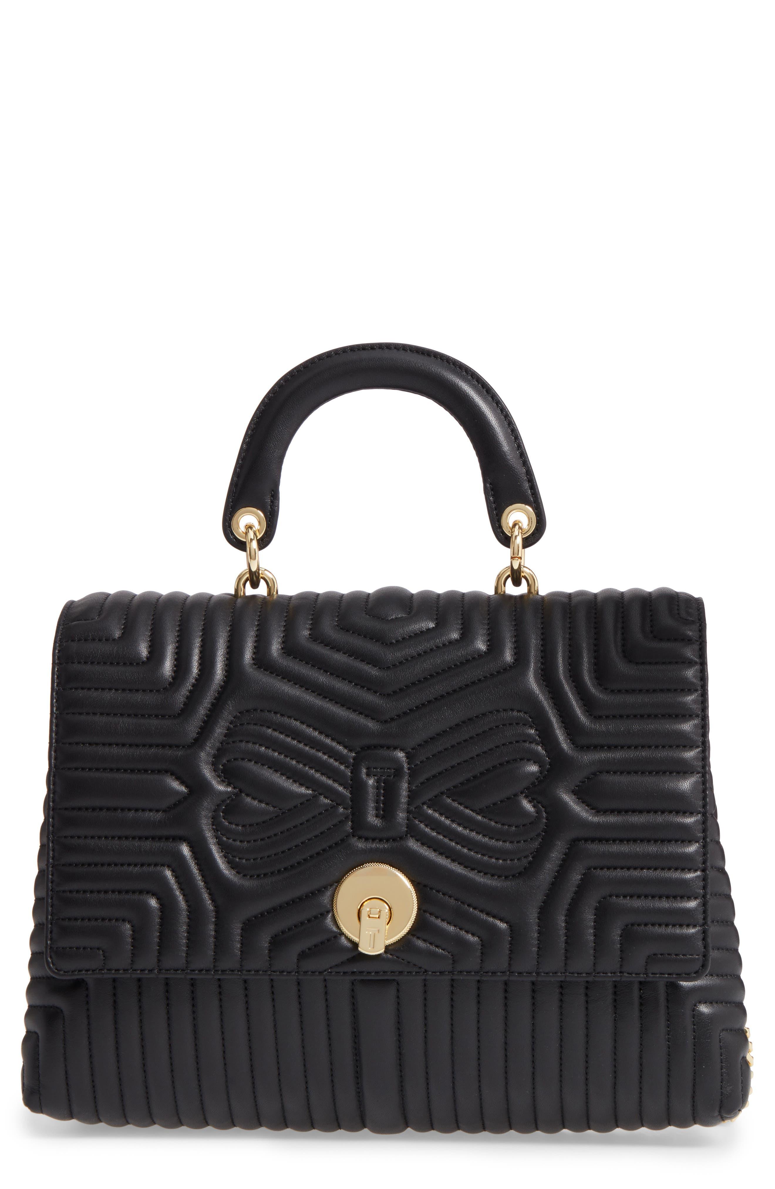 Vivida Quilted Leather Shoulder Bag,                         Main,                         color, Black