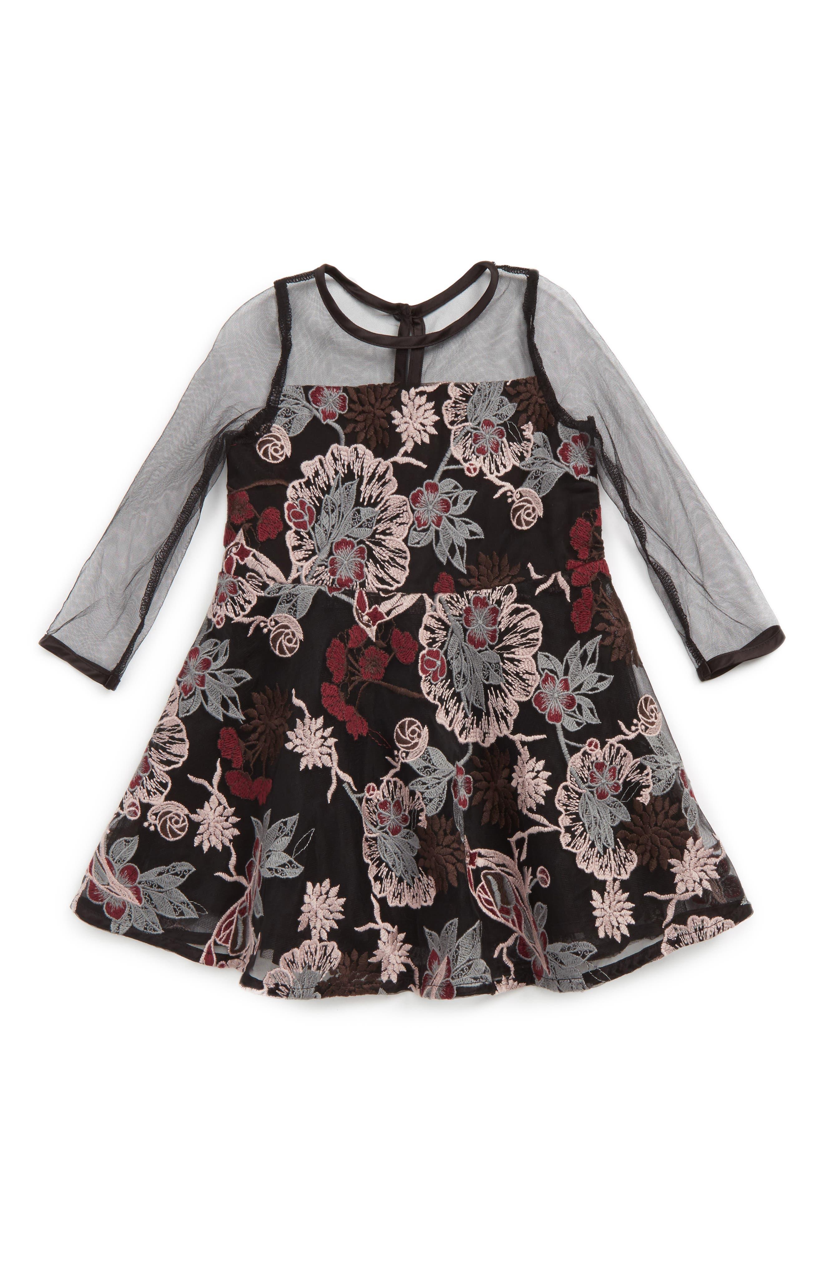 Lace Dress,                         Main,                         color, Black