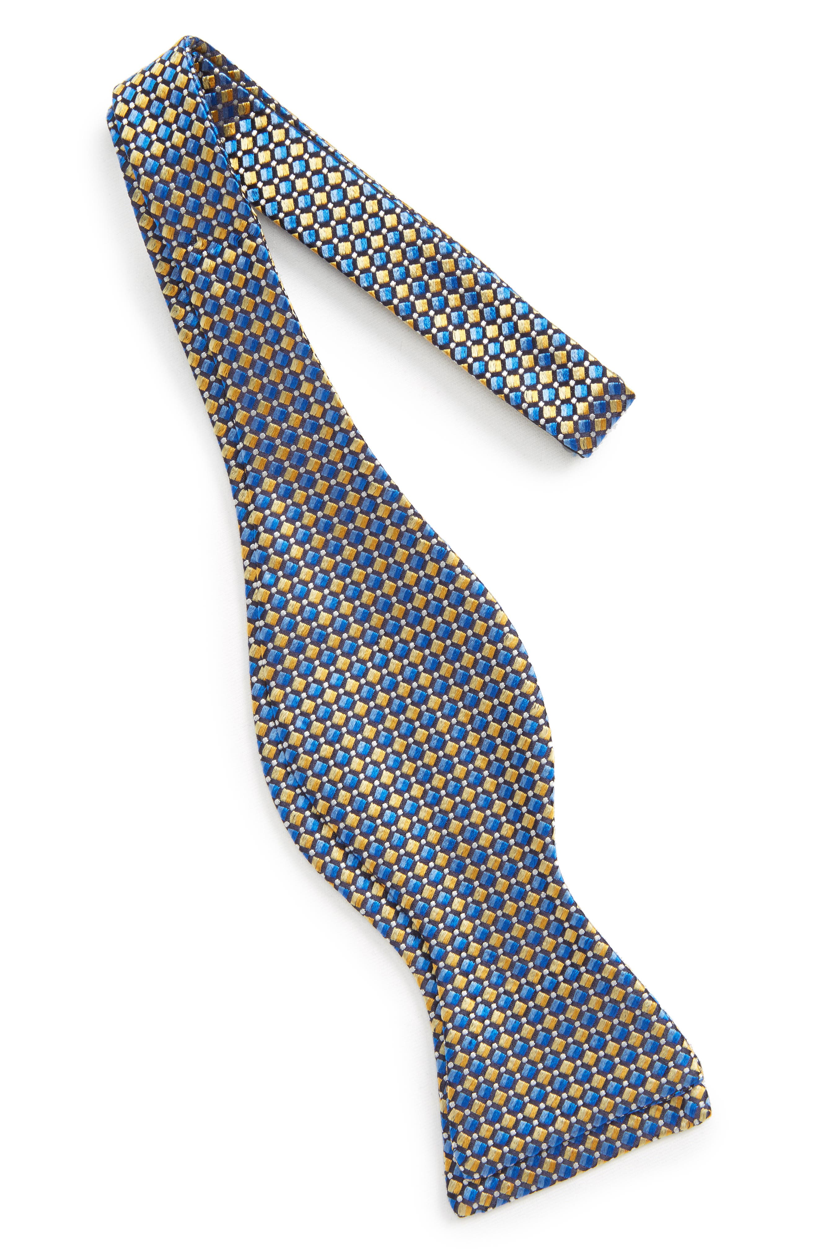 Geometric Silk Bow Tie,                             Alternate thumbnail 2, color,                             Yellow