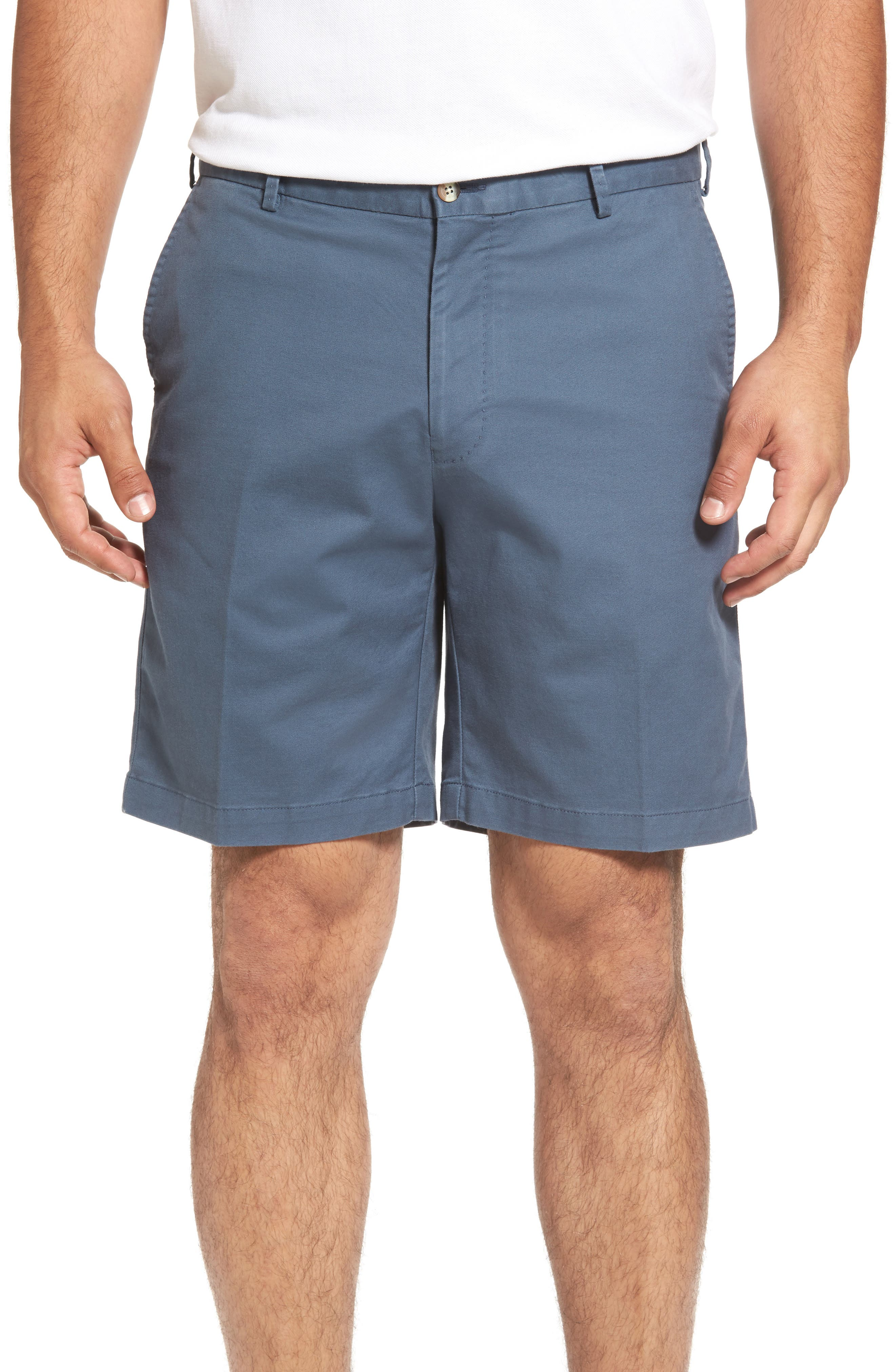 Soft Touch Stretch Twill Shorts,                         Main,                         color, Navy