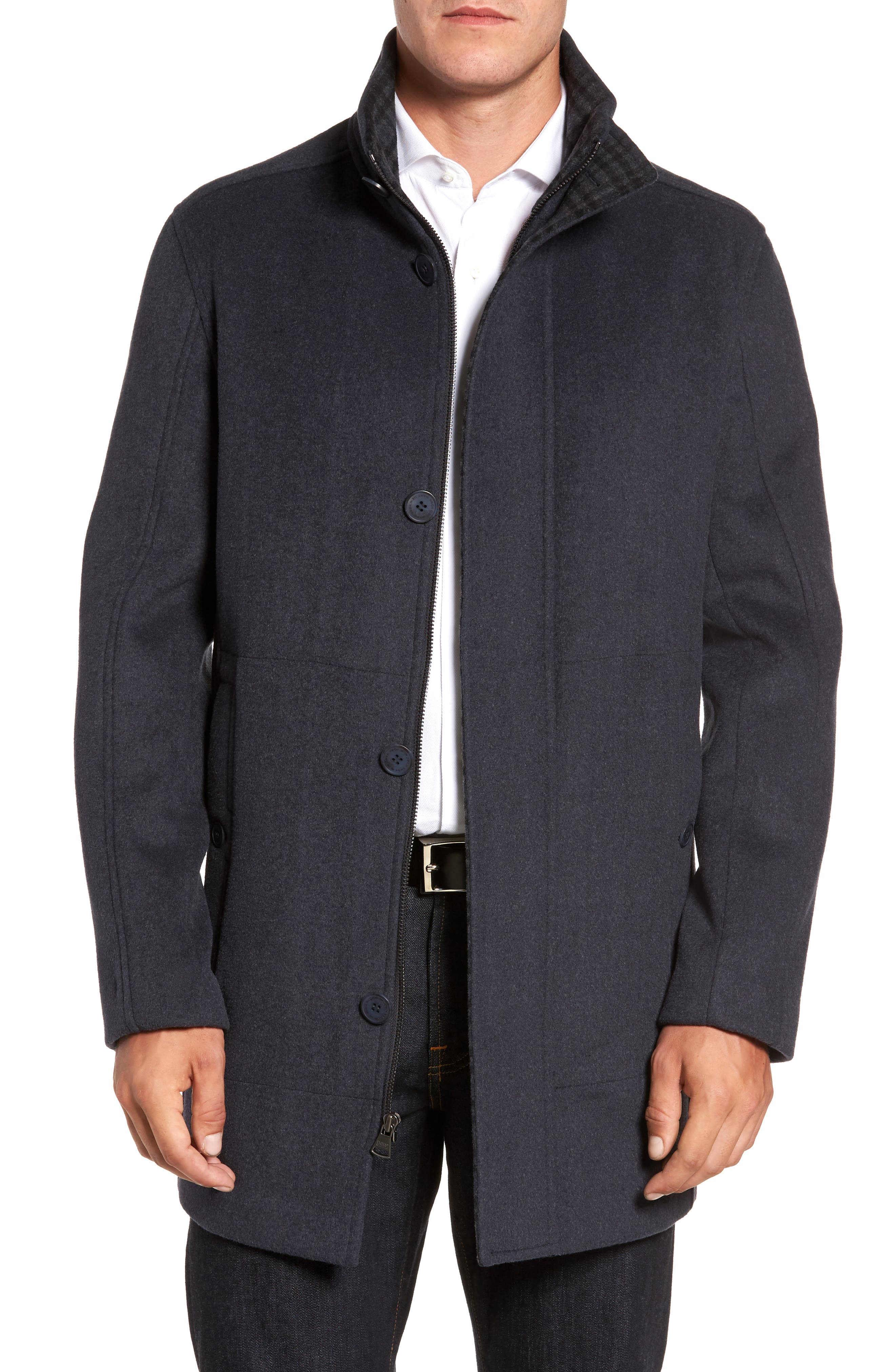 Main Image - Marc New York Double Face Wool Blend Car Coat