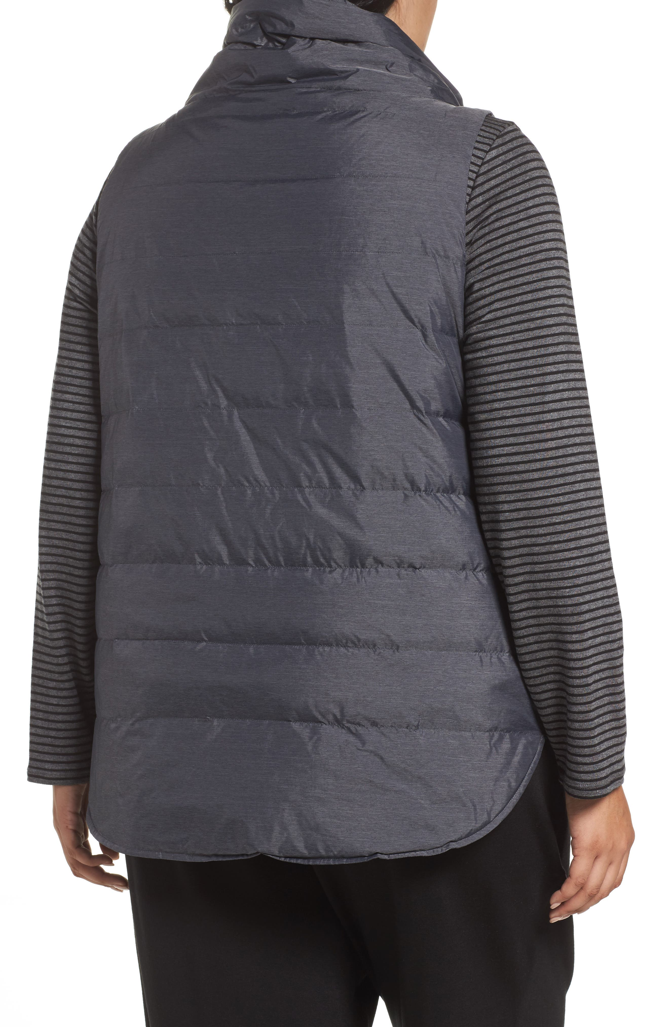 Alternate Image 2  - Eileen Fisher Stand Collar Vest (Plus Size)