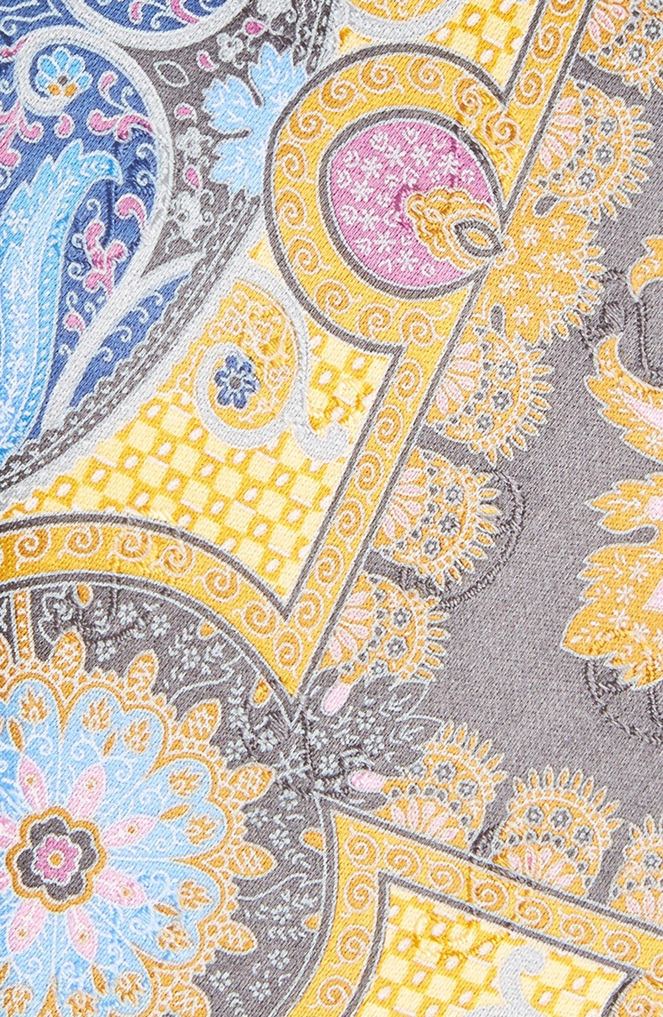 Quindici Paisley Silk Tie,                             Alternate thumbnail 2, color,                             Yellow