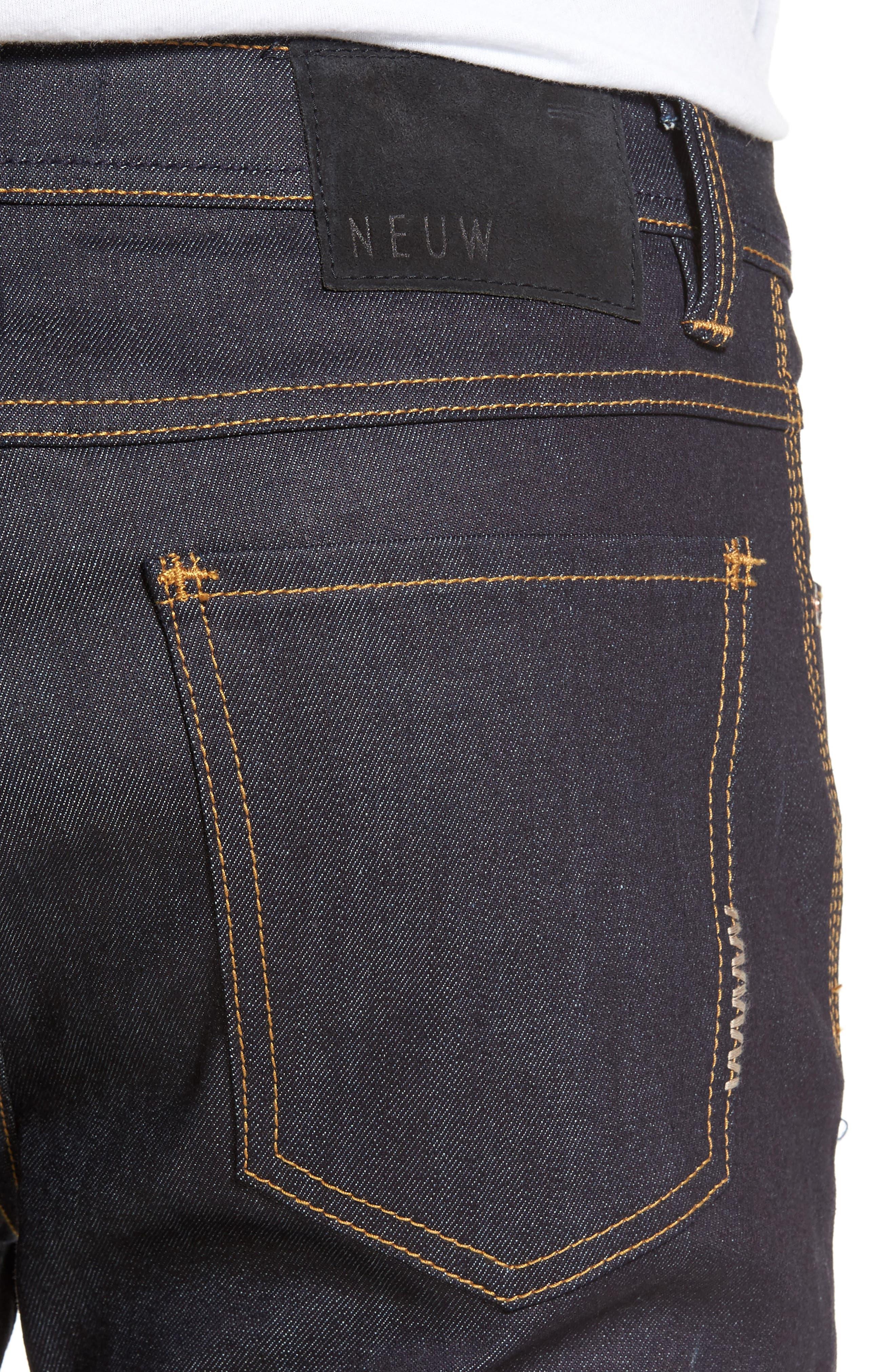 Alternate Image 4  - Neuw Iggy Skinny Jeans (Raw Stretch)
