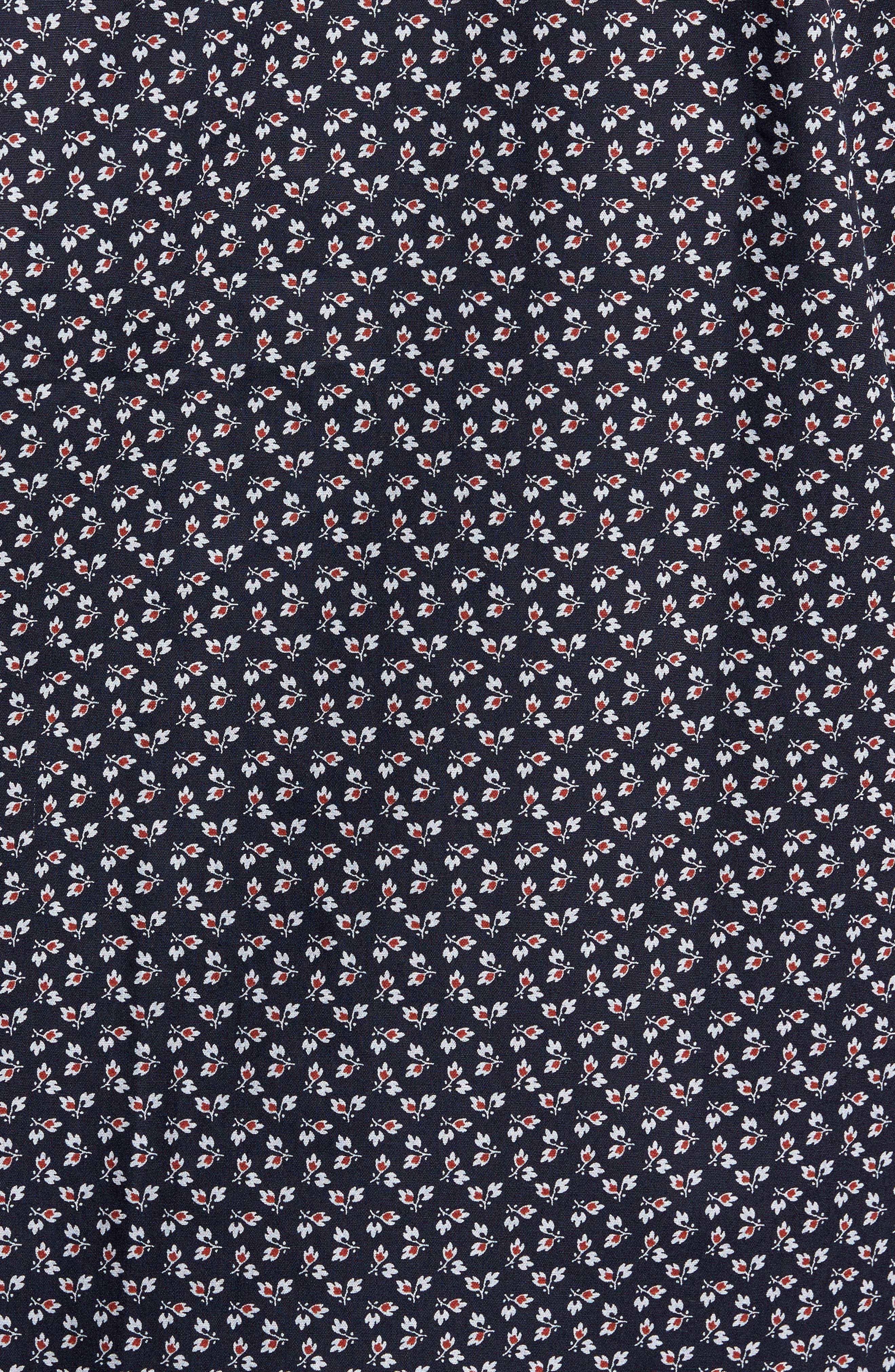 Alternate Image 6  - Jeff Slim Fit Floral Print Sport Shirt