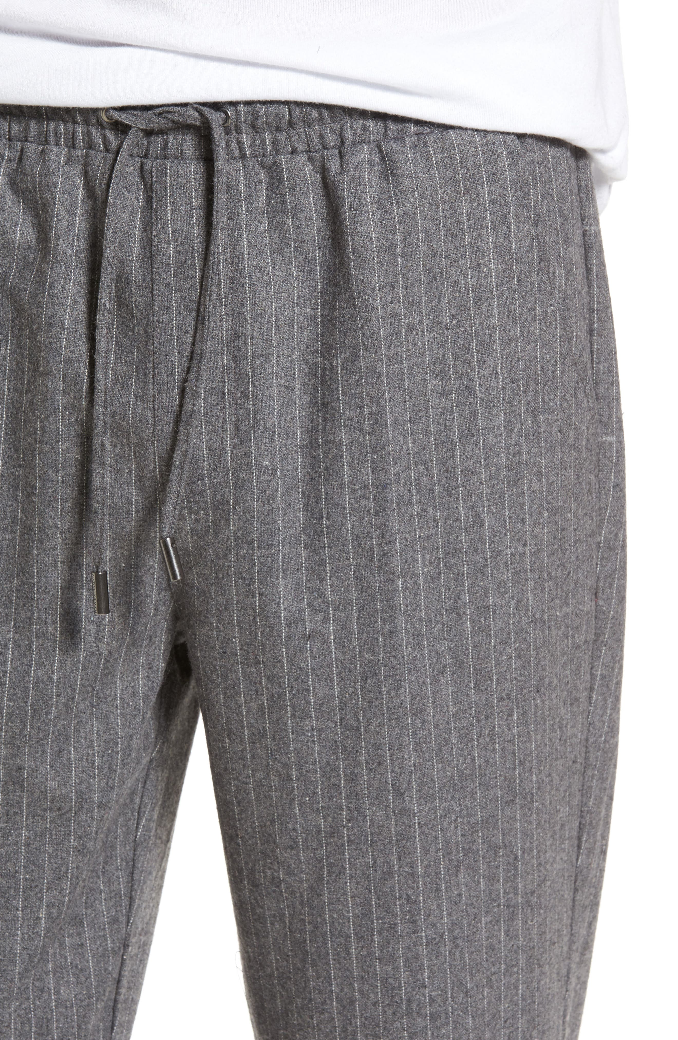 Pennyworth Pants,                             Alternate thumbnail 4, color,                             Charcoal Pinstripe