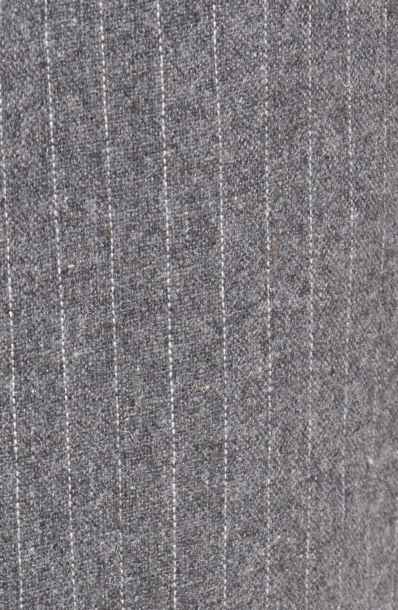 Pennyworth Pants,                             Alternate thumbnail 5, color,                             Charcoal Pinstripe
