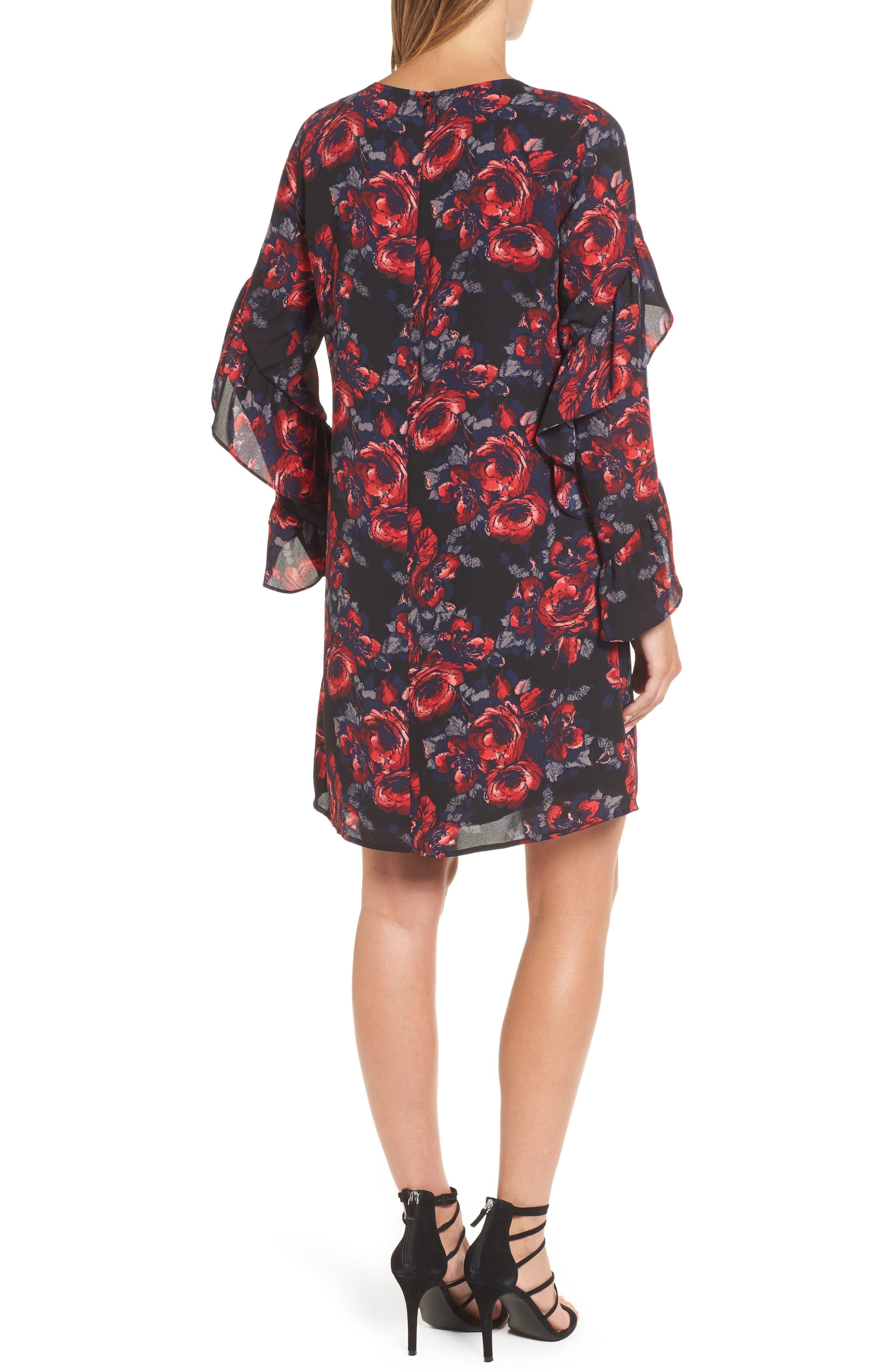 Alternate Image 2  - Halogen® Ruffle Shift Dress (Regular & Petite)