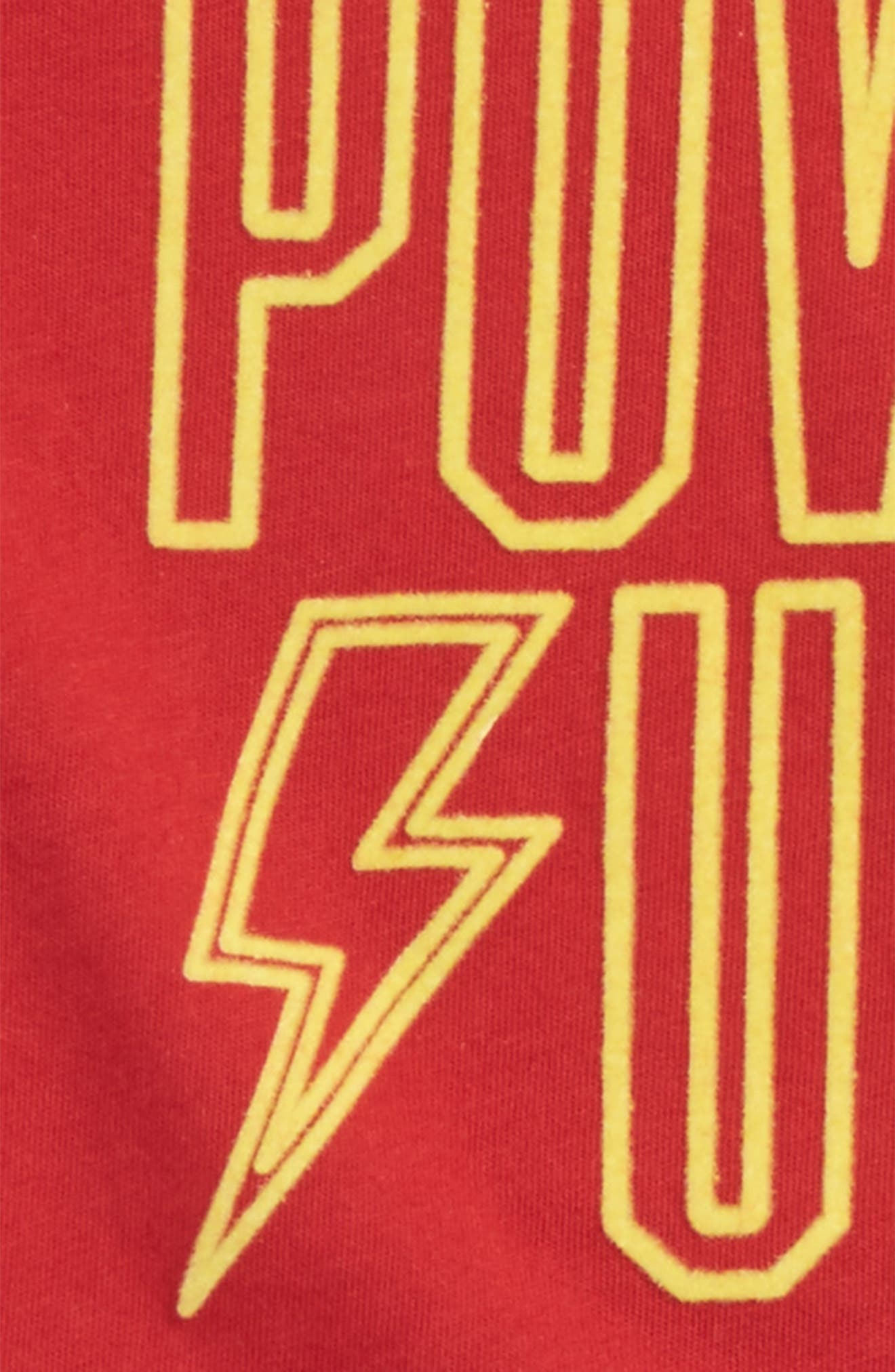 Power Up T-Shirt,                             Alternate thumbnail 2, color,                             Red