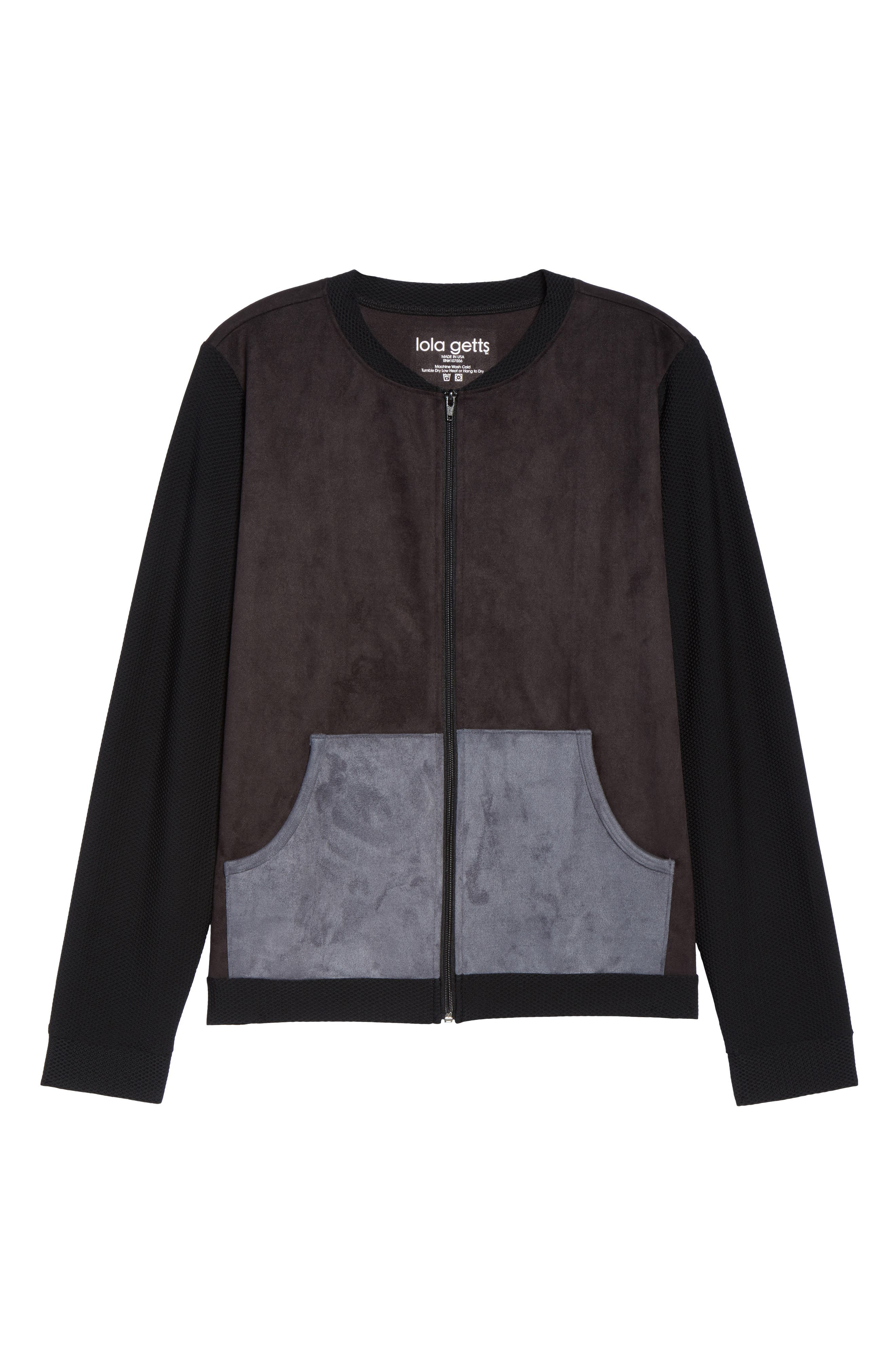 Track Jacket,                             Alternate thumbnail 7, color,                             Black/ Charcoal