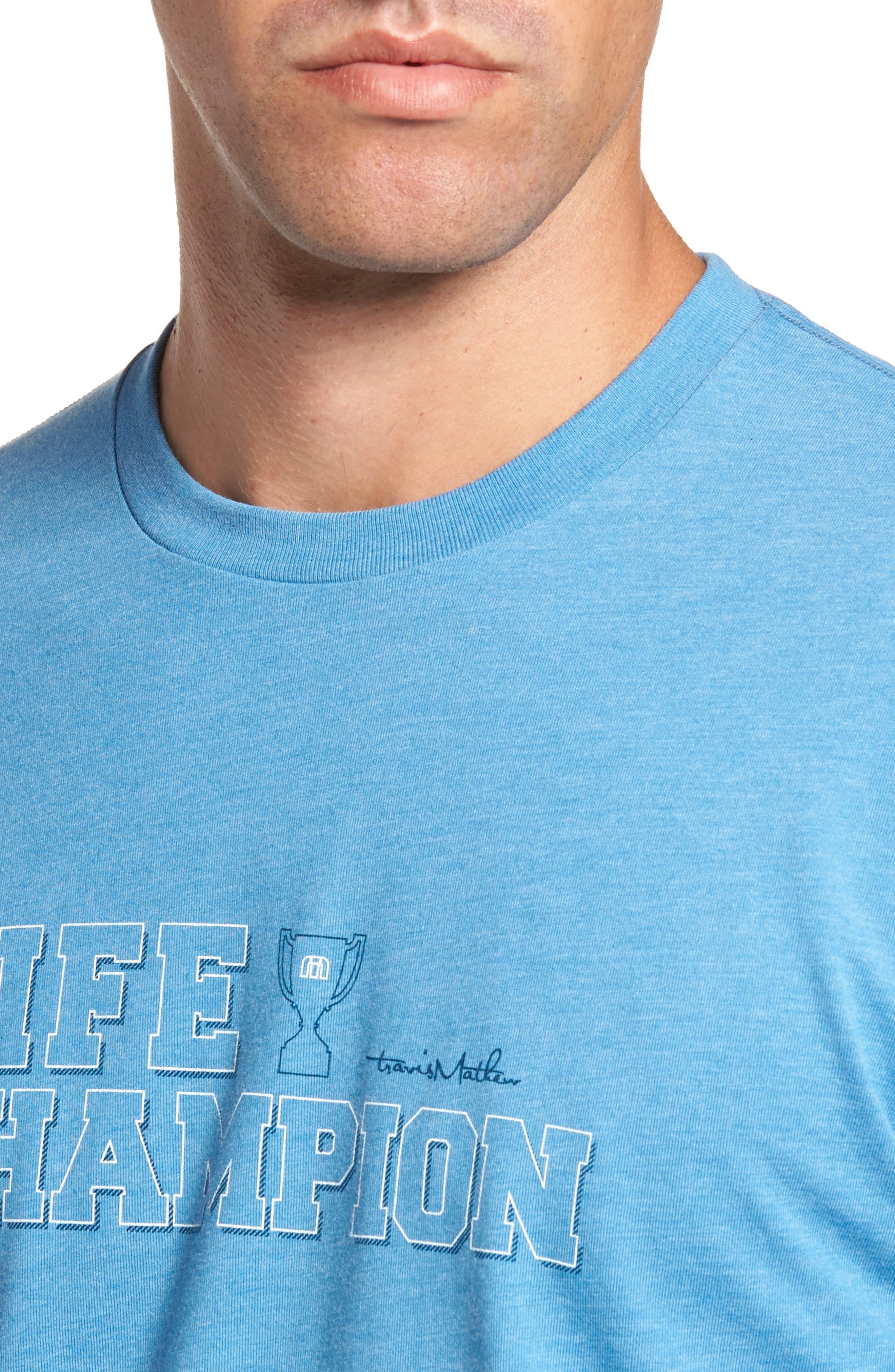 Life Champion Graphic T-Shirt,                             Alternate thumbnail 4, color,                             Heather Blue