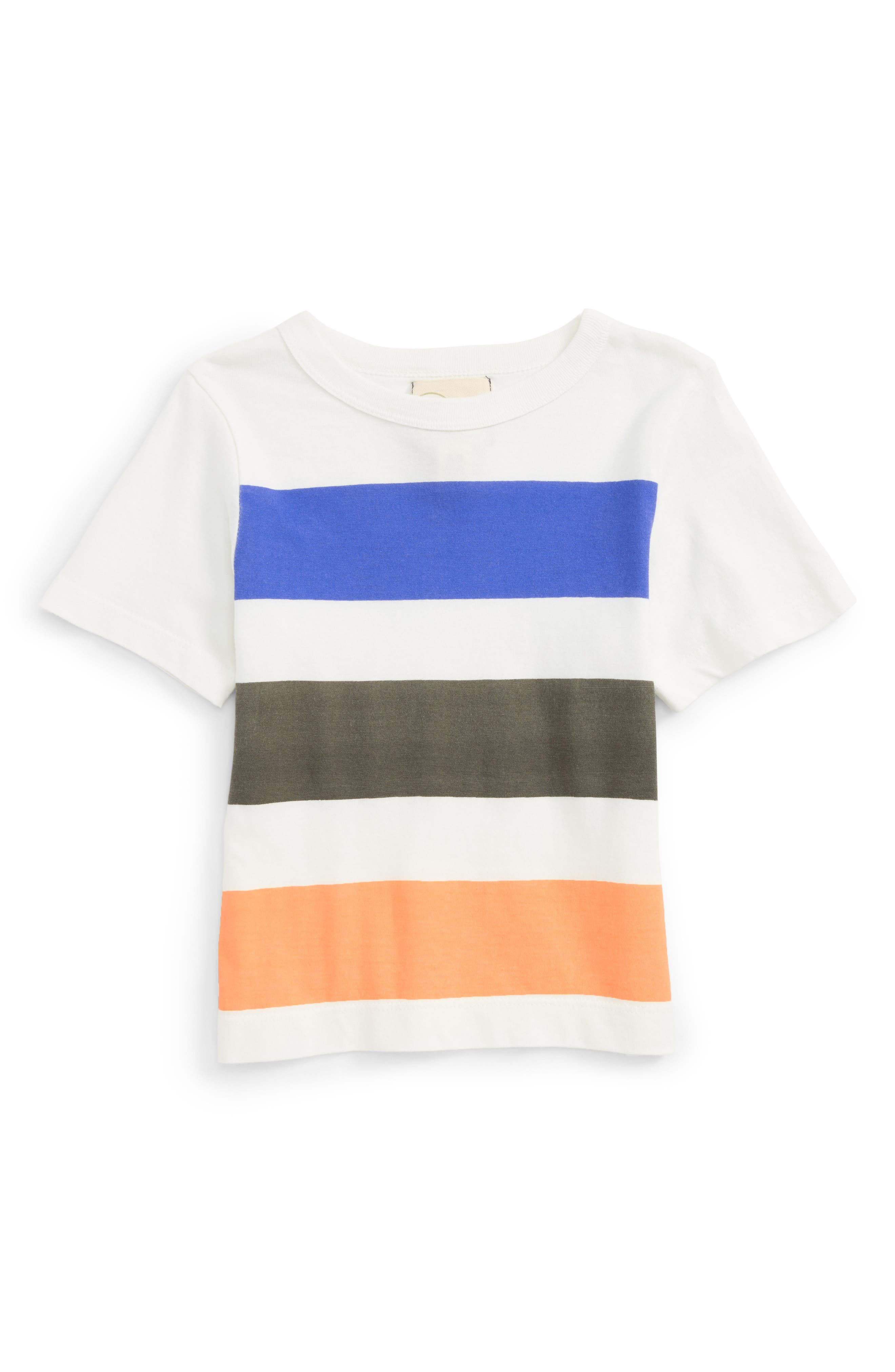 Quinn Stripe T-Shirt,                         Main,                         color, White