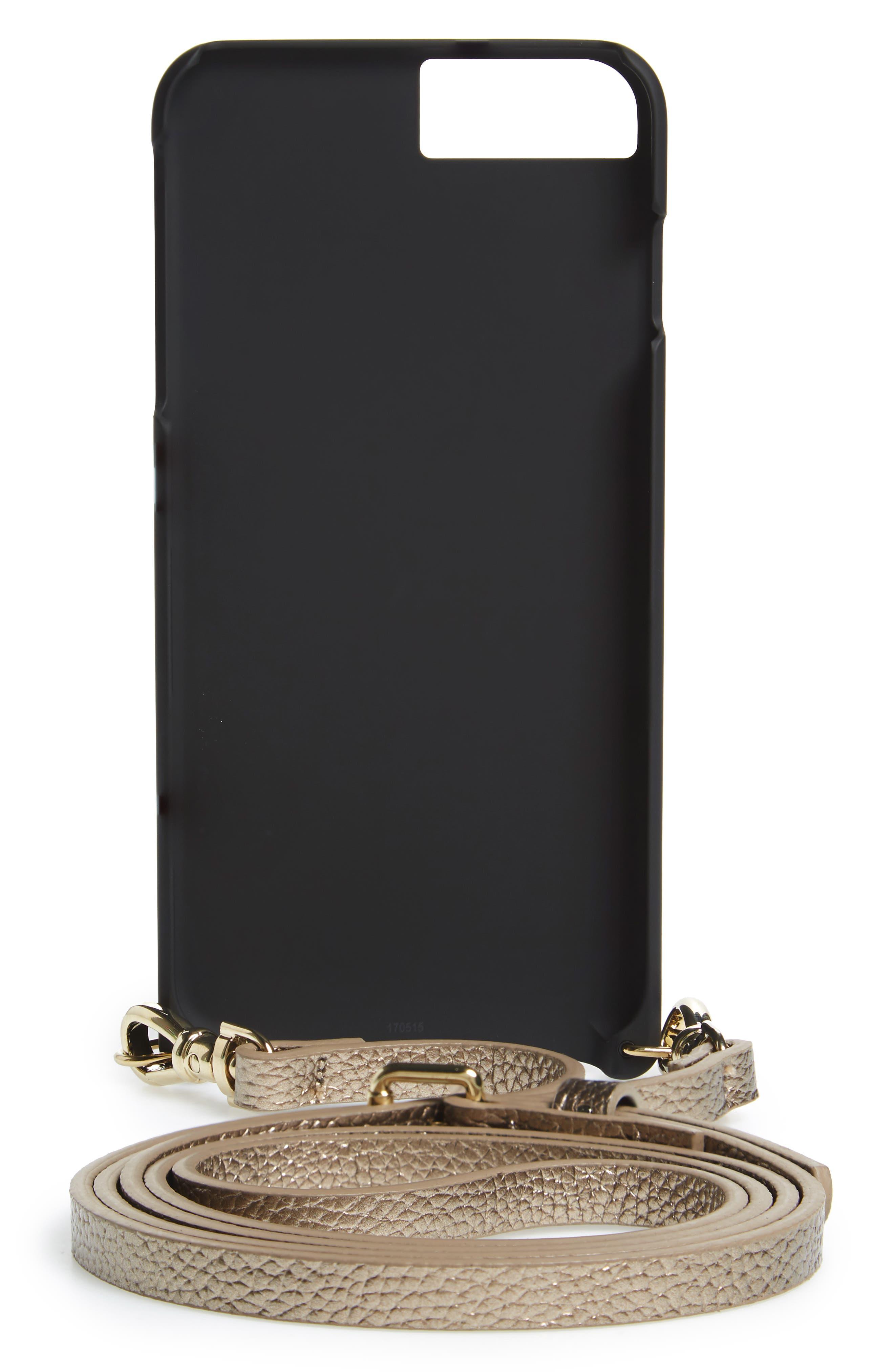 Emma iPhone 6/7/8 & 6/7/8 Plus Crossbody Case,                             Alternate thumbnail 2, color,                             Bronze/ Gold
