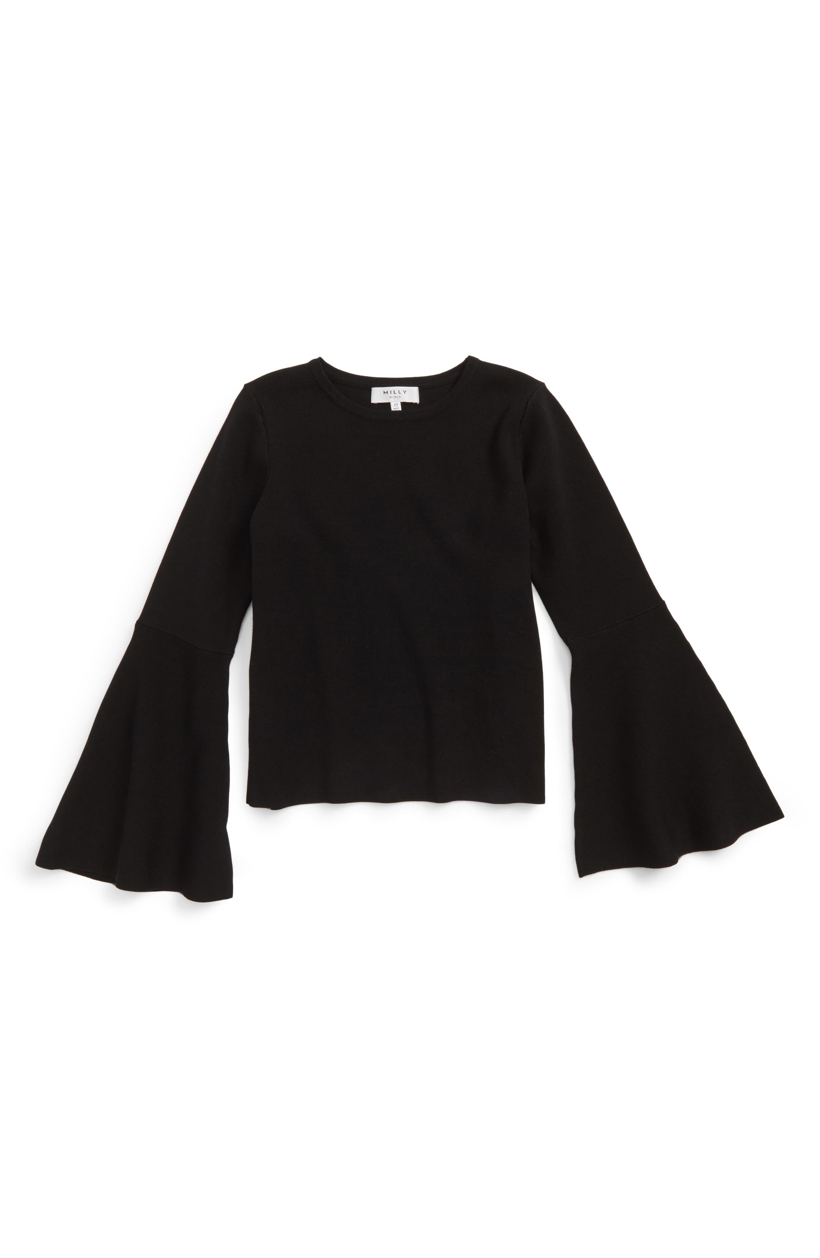 Milly Minis Bell Sleeve Top (Toddler Girls, Little Girls & Big Girls)