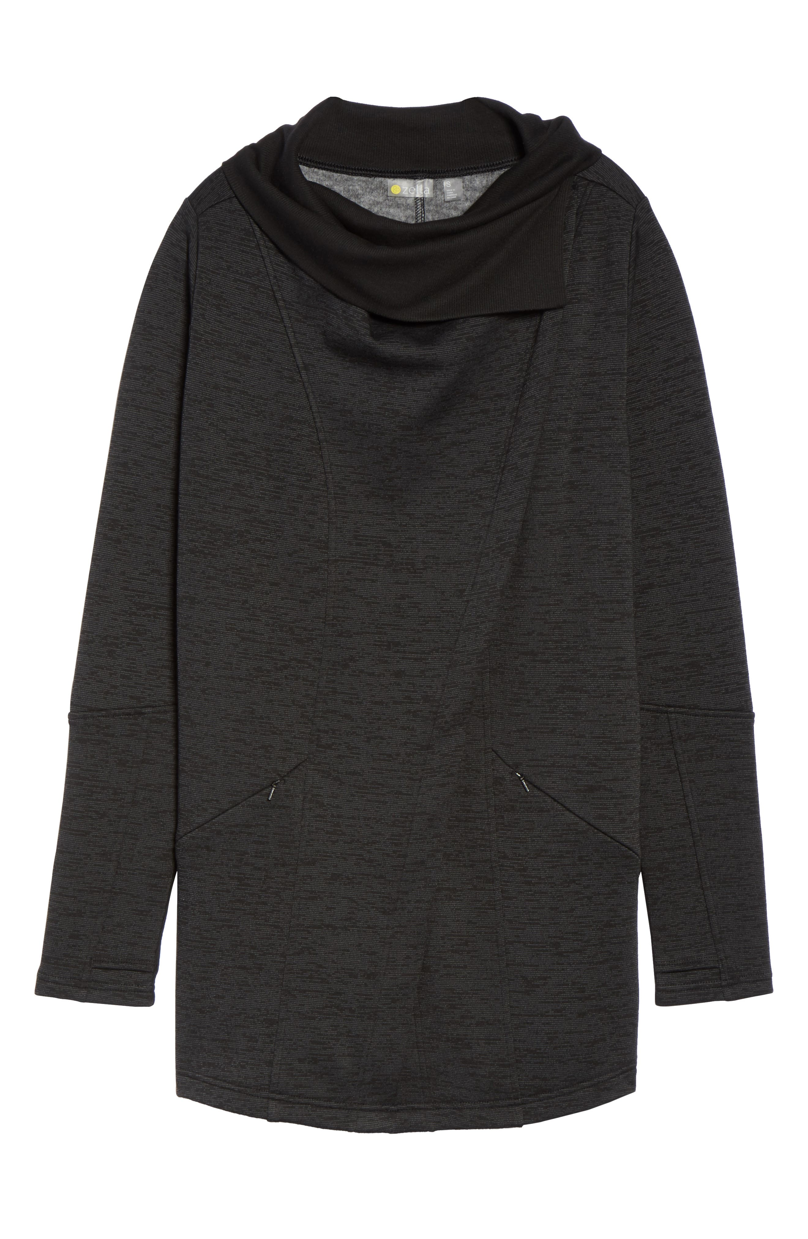 Alternate Image 6  - Zella Elevate Me Wrap Sweatshirt