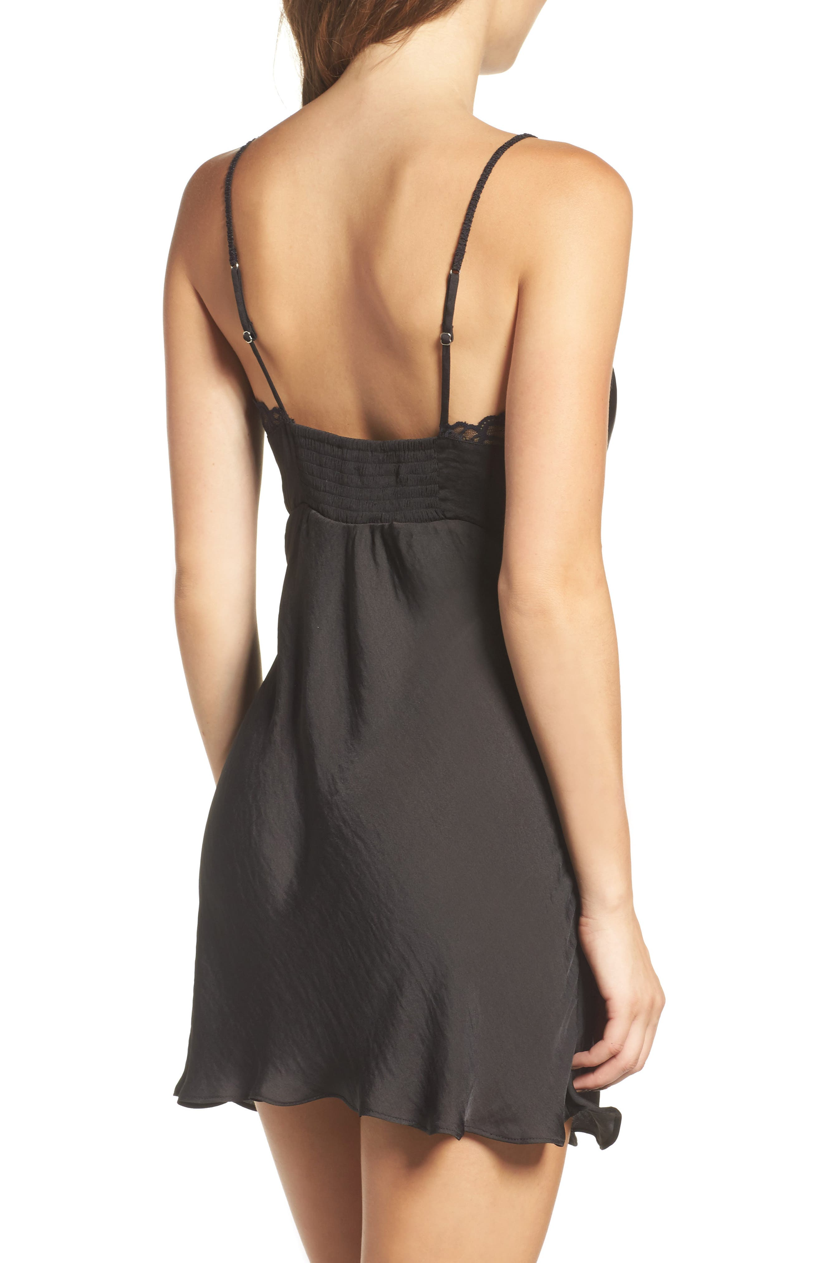 Colette Chemise,                             Alternate thumbnail 2, color,                             Black