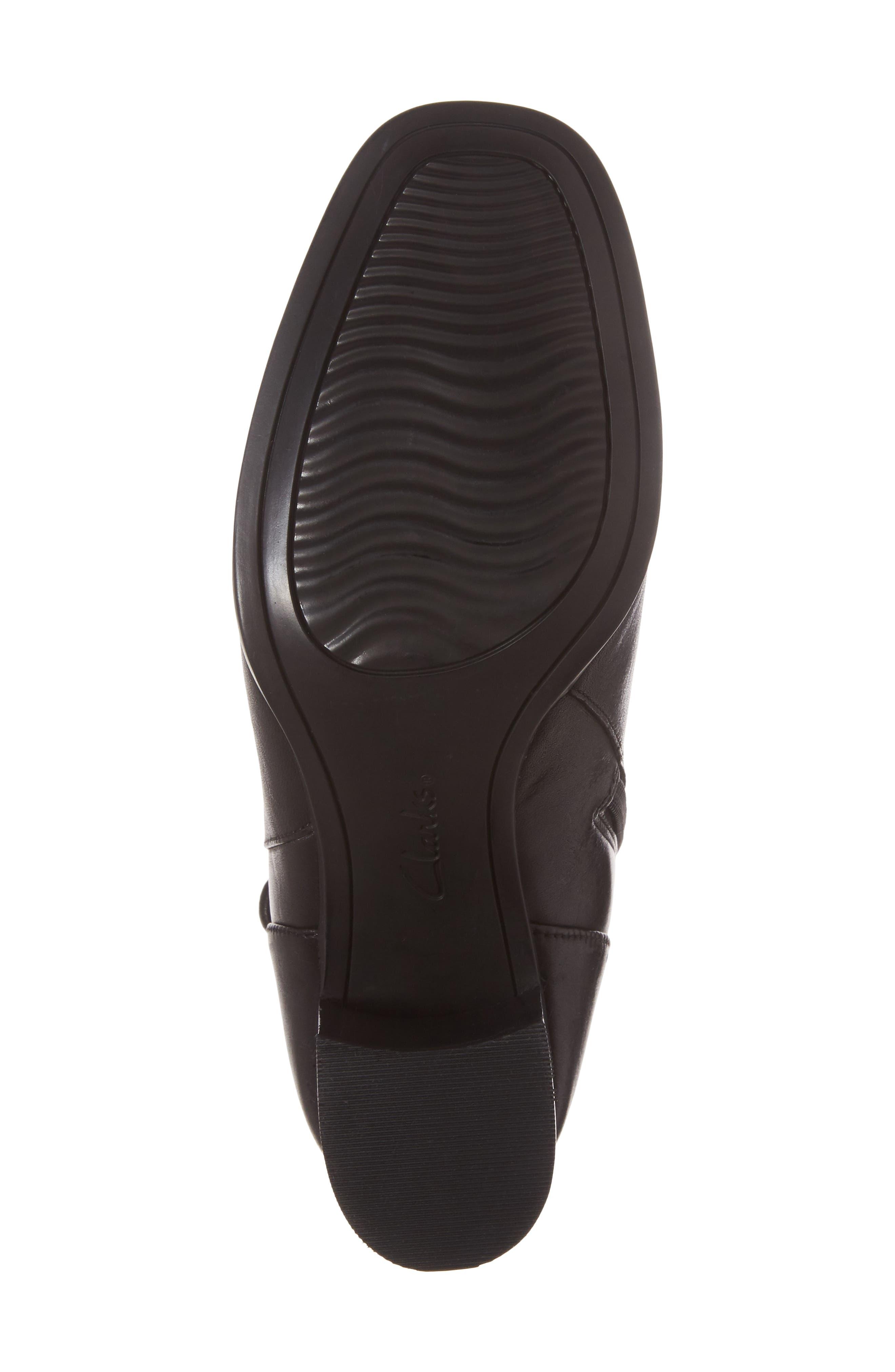 Kensett Diana Bootie,                             Alternate thumbnail 6, color,                             Black Leather